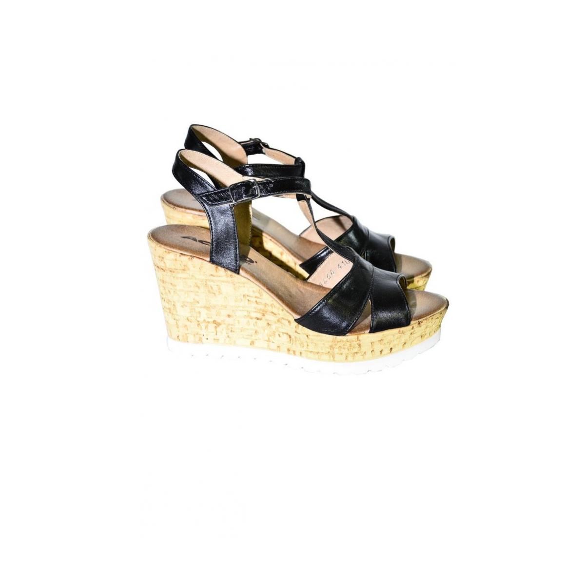 3b12ba286798 Dámske čierne letné sandále JENSE - 3