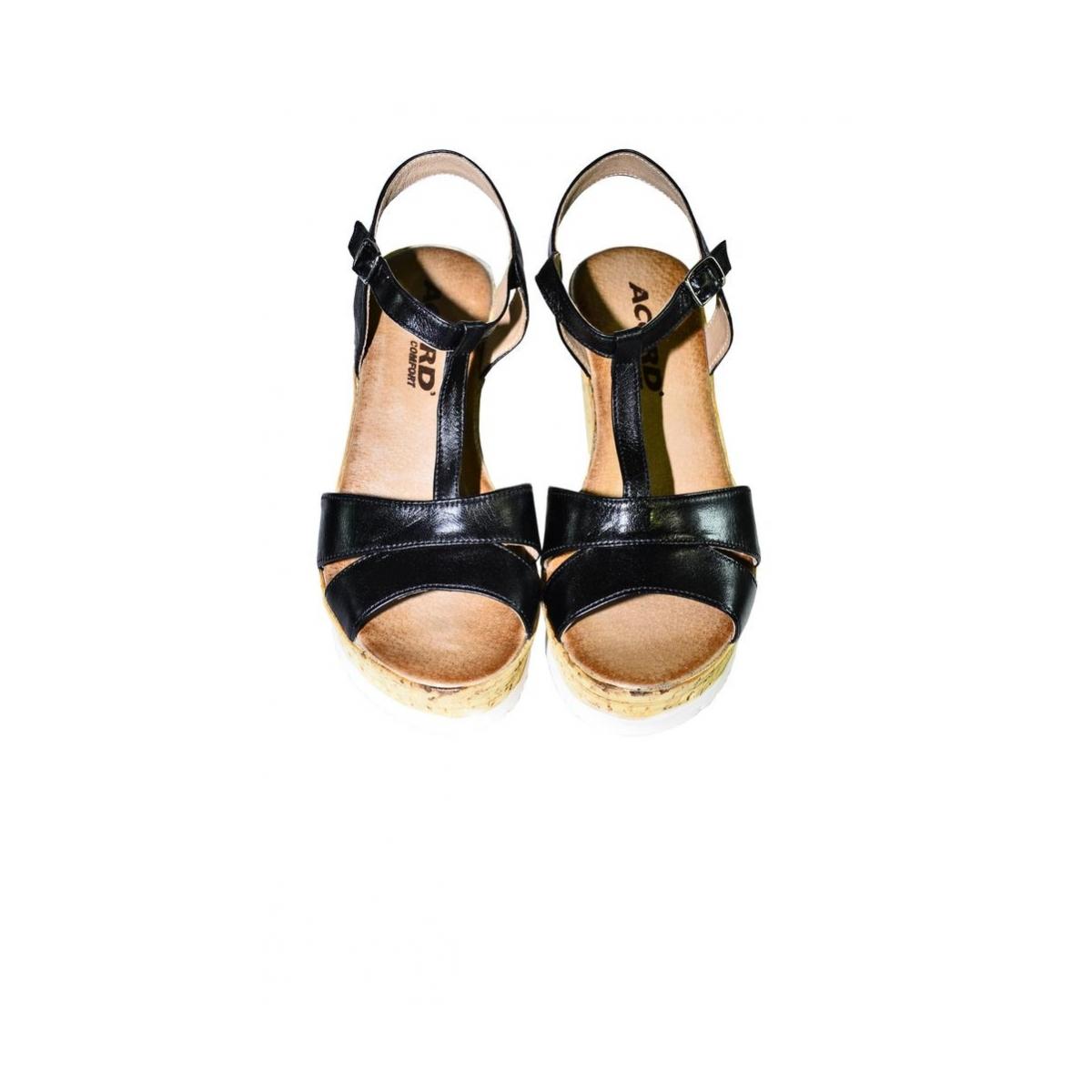91063ac8751f Dámske čierne letné sandále JENSE - 4