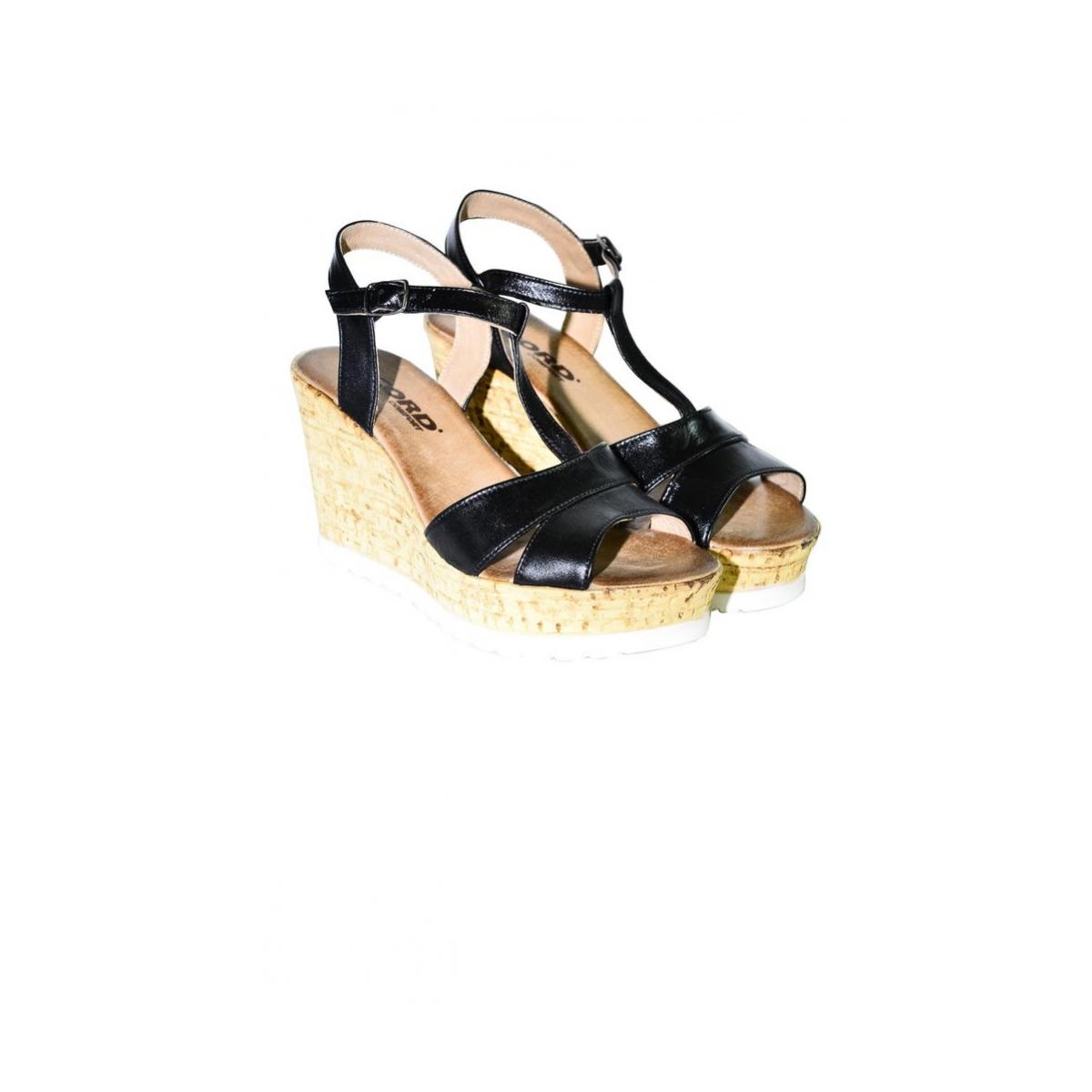 66b80af48d9f Dámske čierne letné sandále JENSE - 2