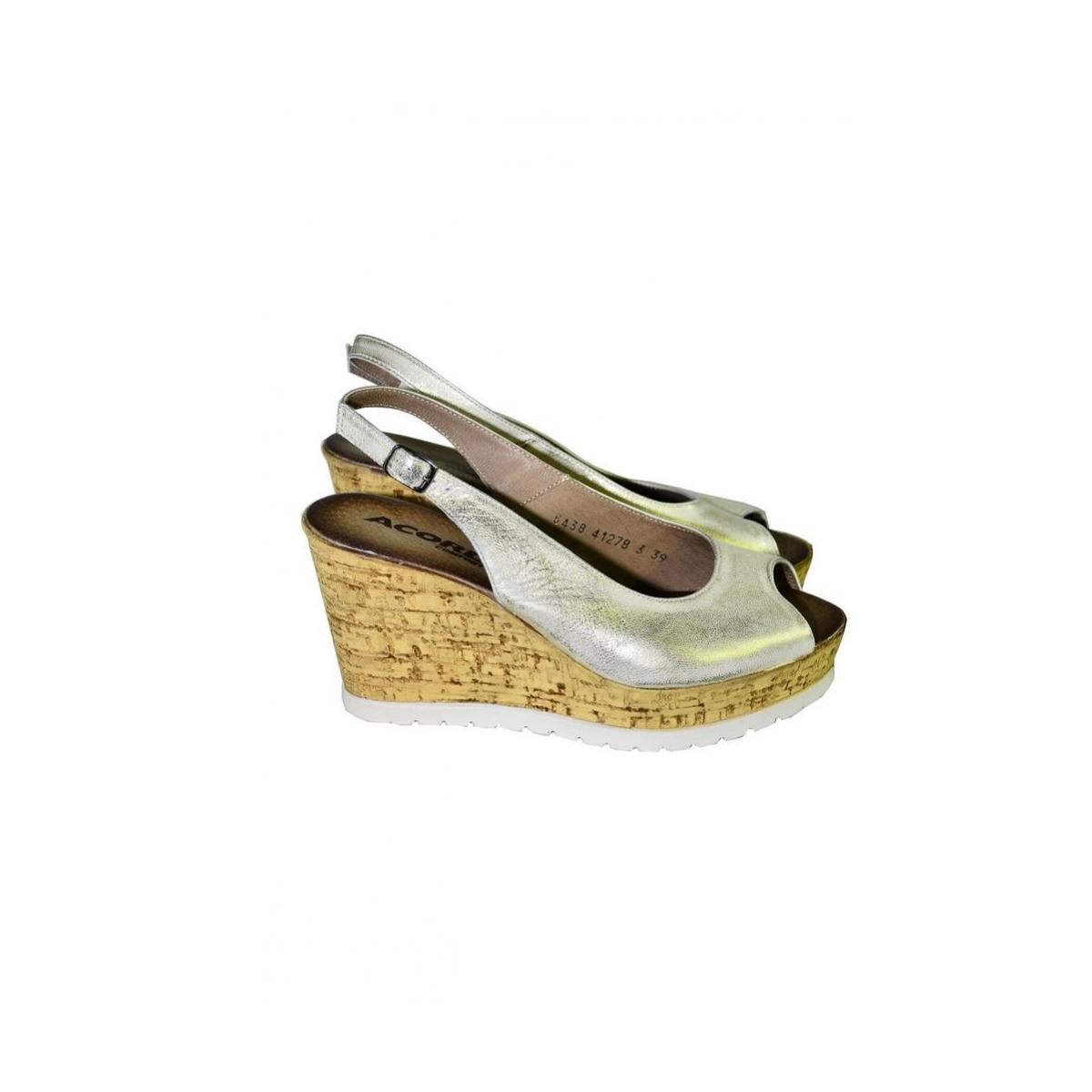 71be39ed42a5 Dámske letné zlaté sandále NETANA - 3