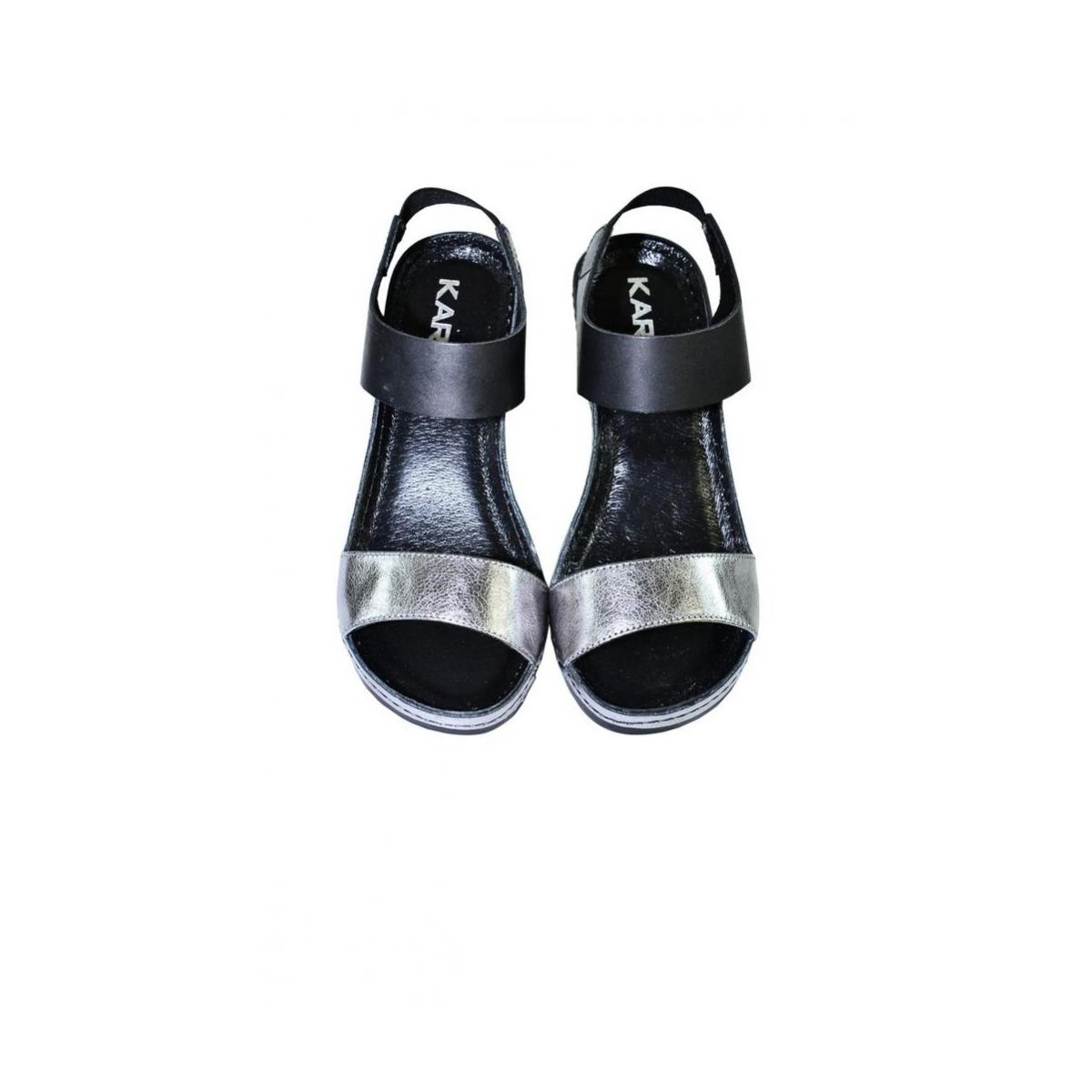 bf3e71632c15 Dámske čierno strieborné sandále CIERON - 8