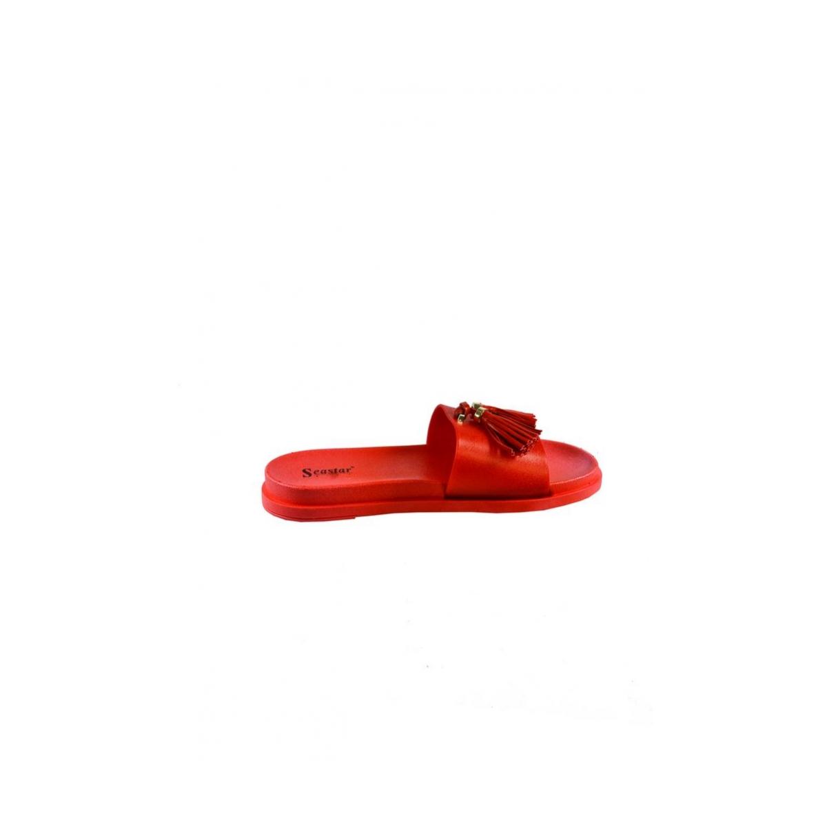 cb9edca24632 Dámske letné červené šľapky AMINA - 4