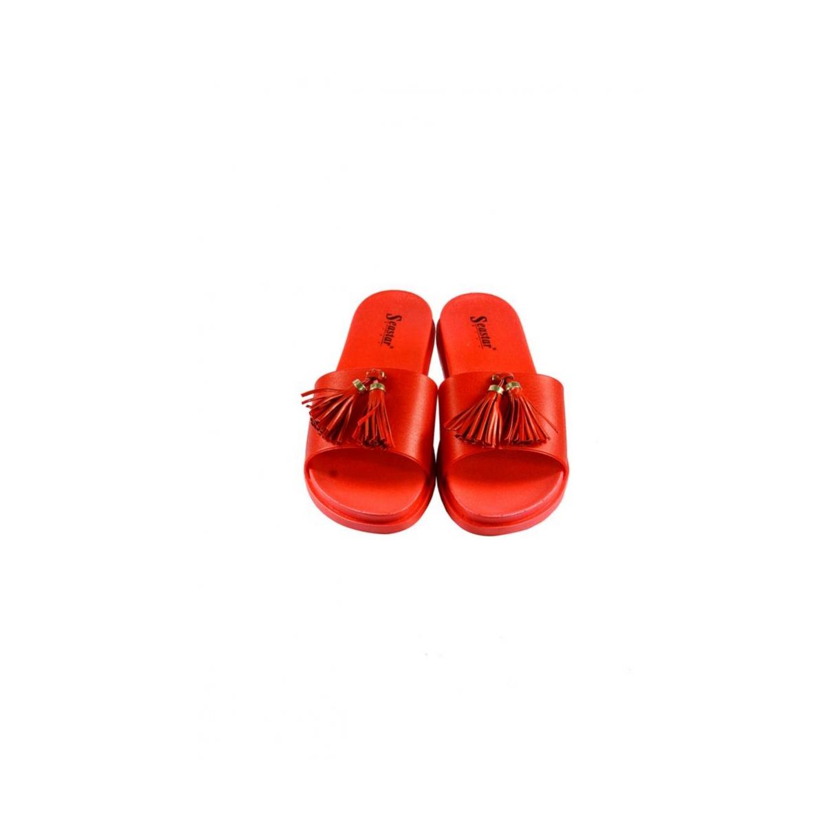 de41a03f4010 Dámske letné červené šľapky AMINA - 5