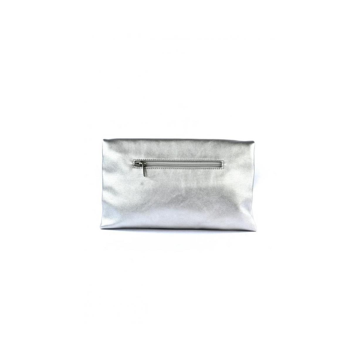 b1cb183efb Dámska listová strieborná kabelka LETTY - 3