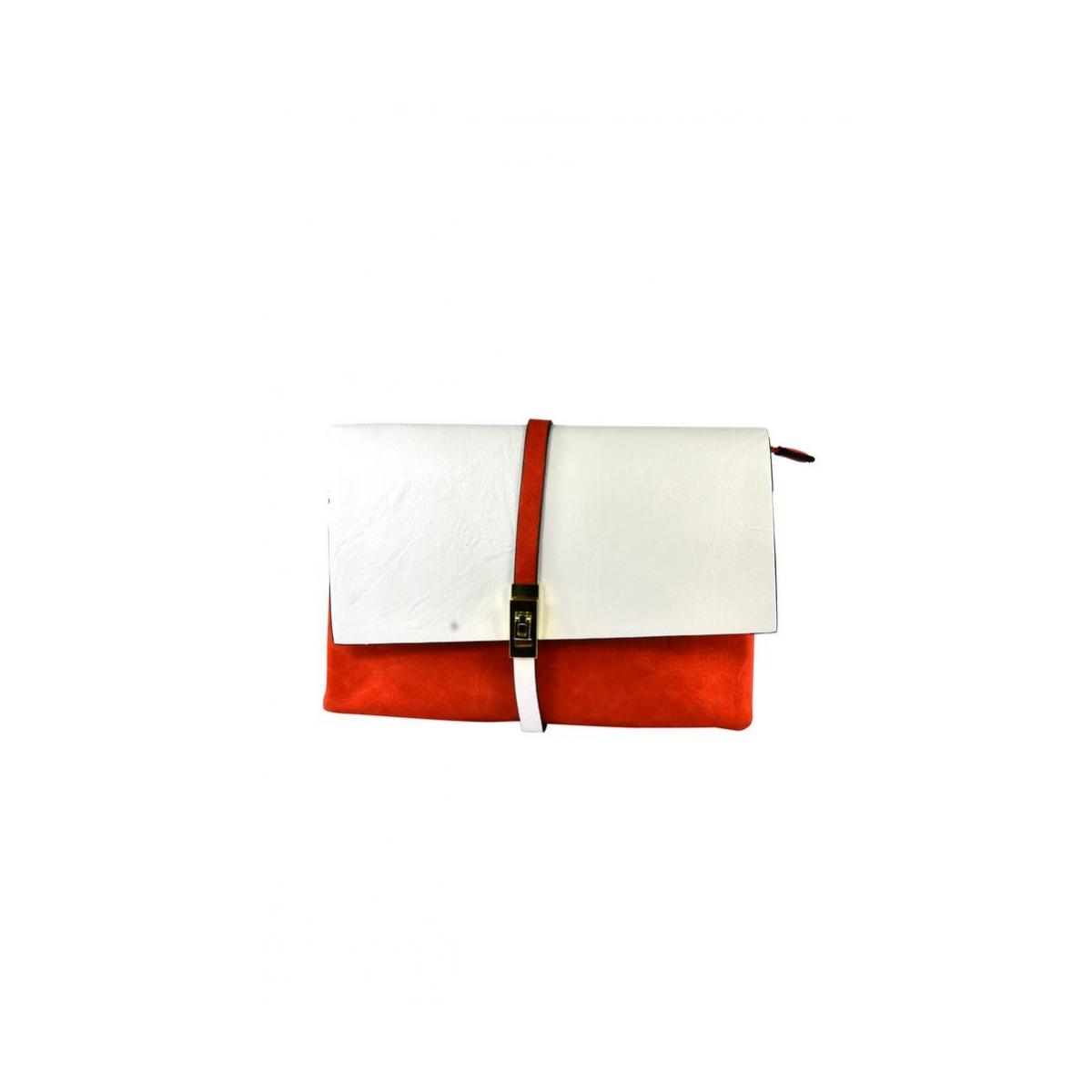 Dámska listová červená kabelka SAGARA - 2 2932eab7f66