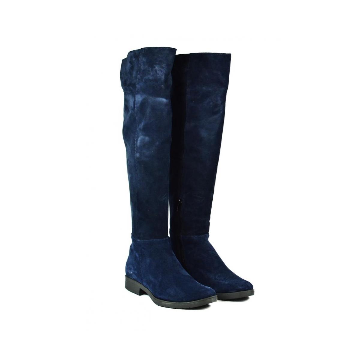 e0da48be9a70 Dámske modré čižmy ALIANA - 2