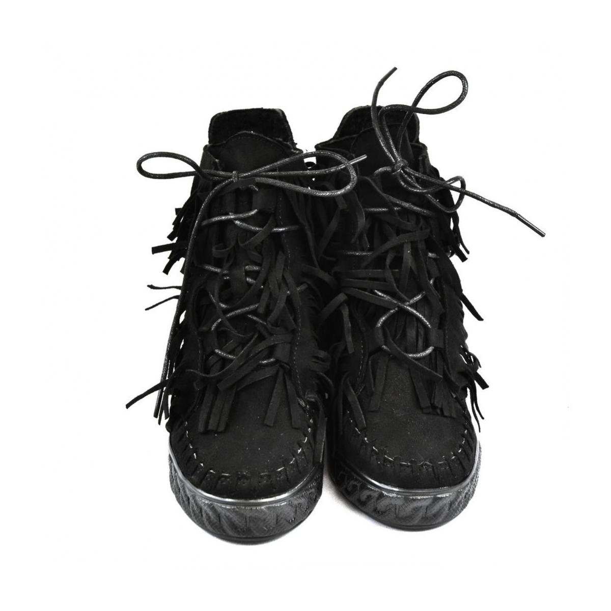 Dámske čierne vysoké tenisky CHEW - 3 2b65f1351e9