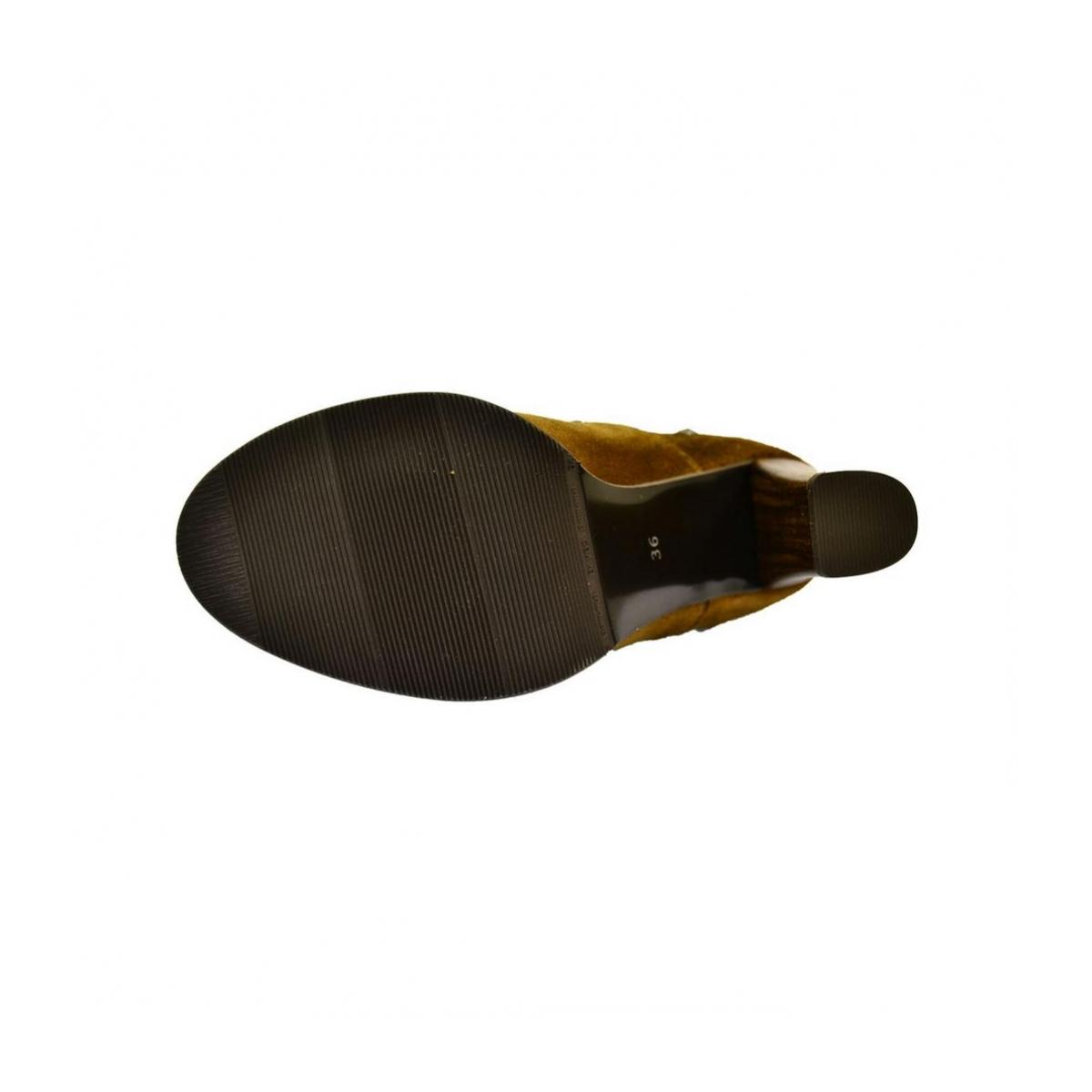 d0a114bbb8376 Dámske hnedé kožené čižmy IVETT - 5