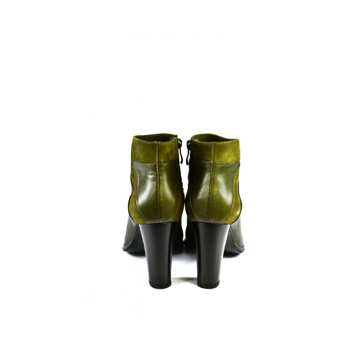 Dámske zelené členkové kožené čižmy MILI - 5 7f417bb897b