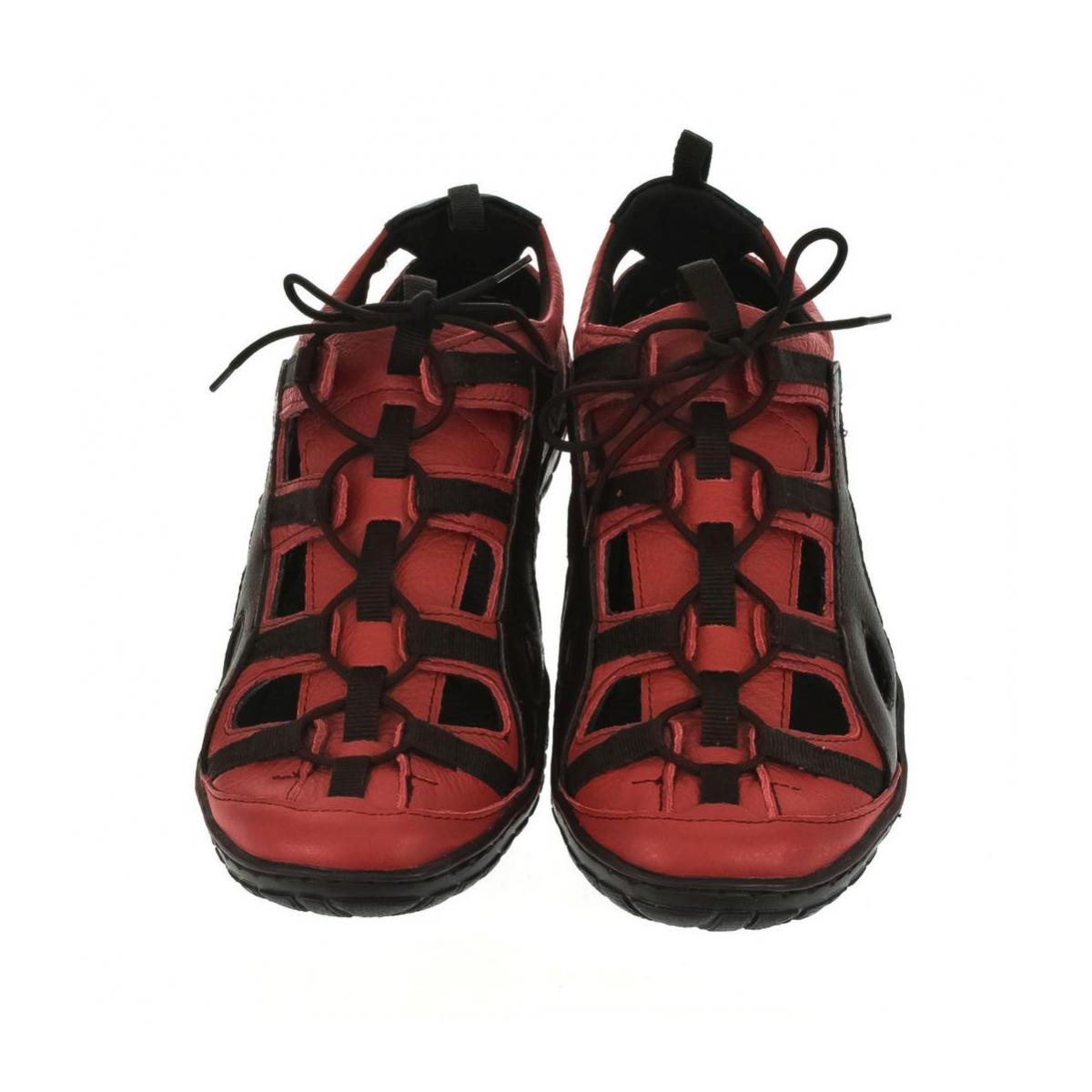 Pánske kožené červené topánky VINCENT - 2 1066b096fb3