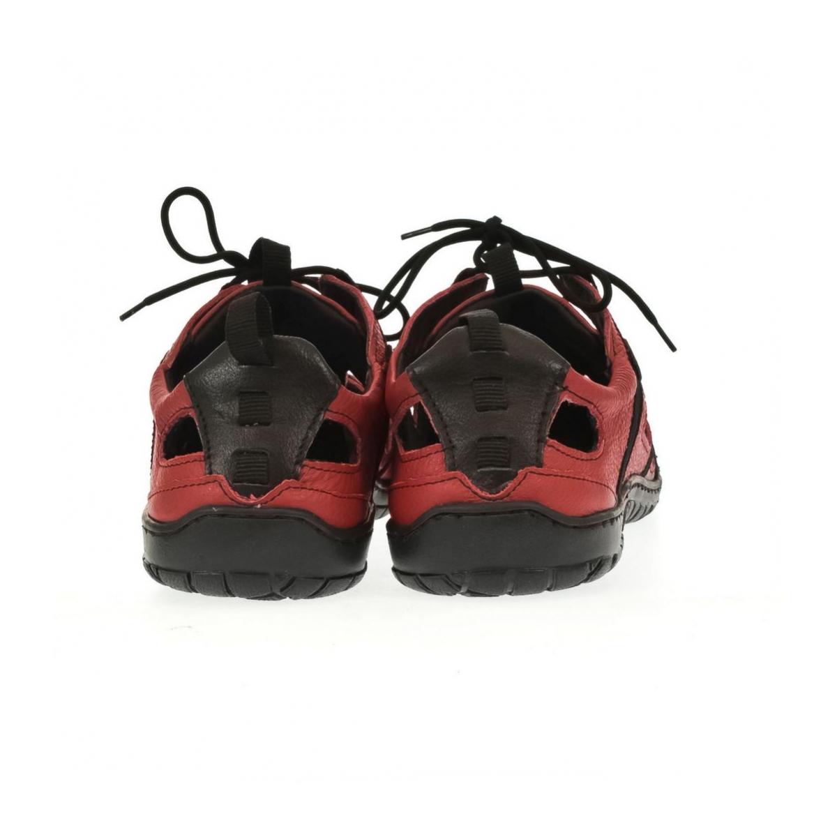 Pánske kožené červené topánky VINCENT - 3 b748d2f6a79