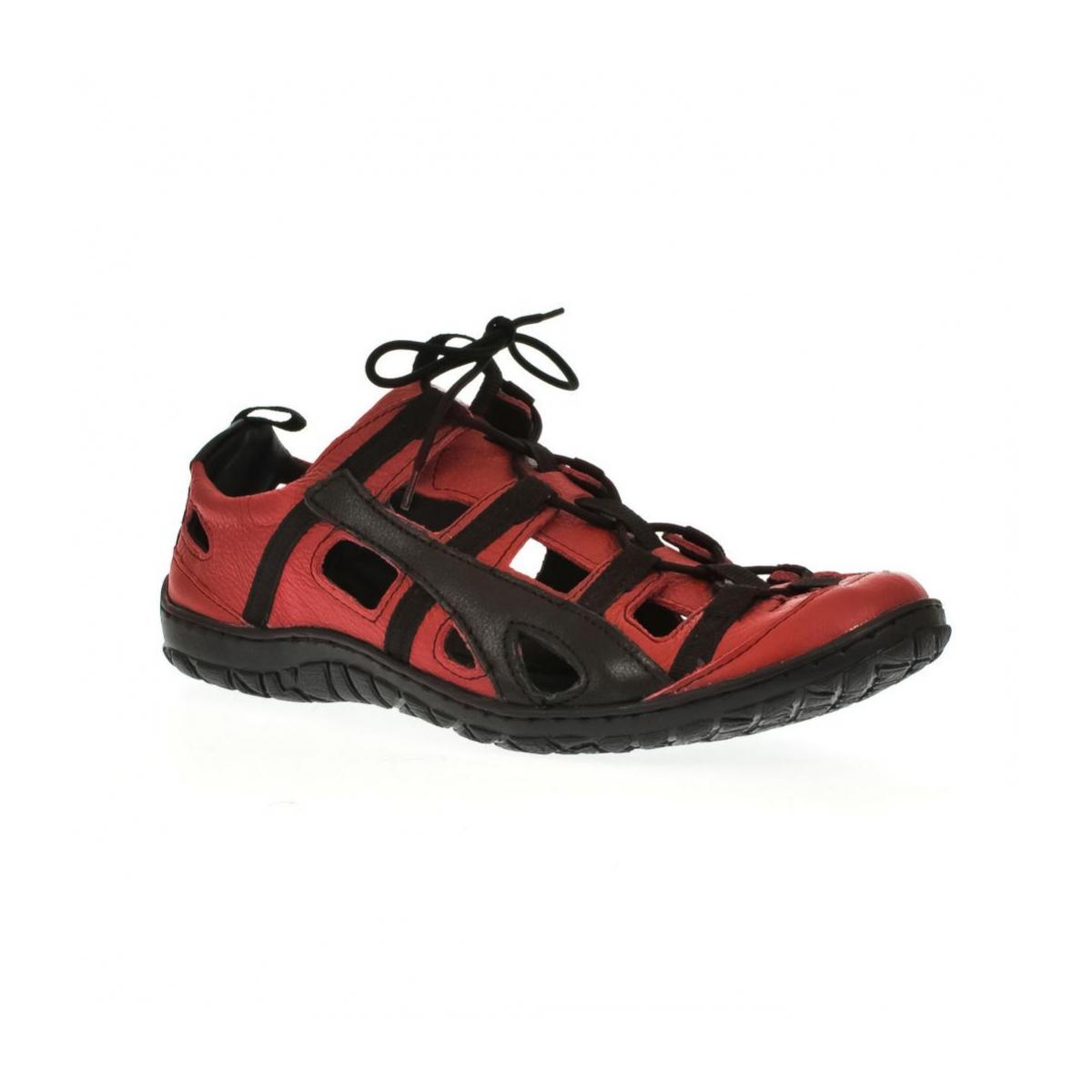 Pánske kožené červené topánky VINCENT - 4 b219ee7121a