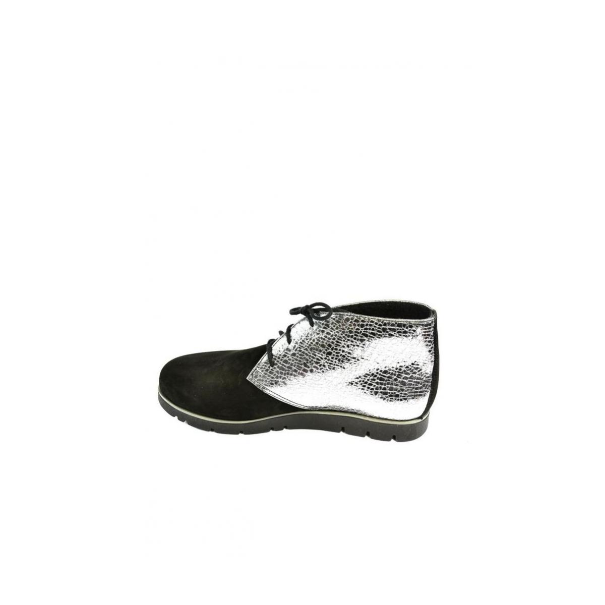 6e7ac7b2e8ad Dámske čierno-strieborné kožené topánky ZEFIR - 3