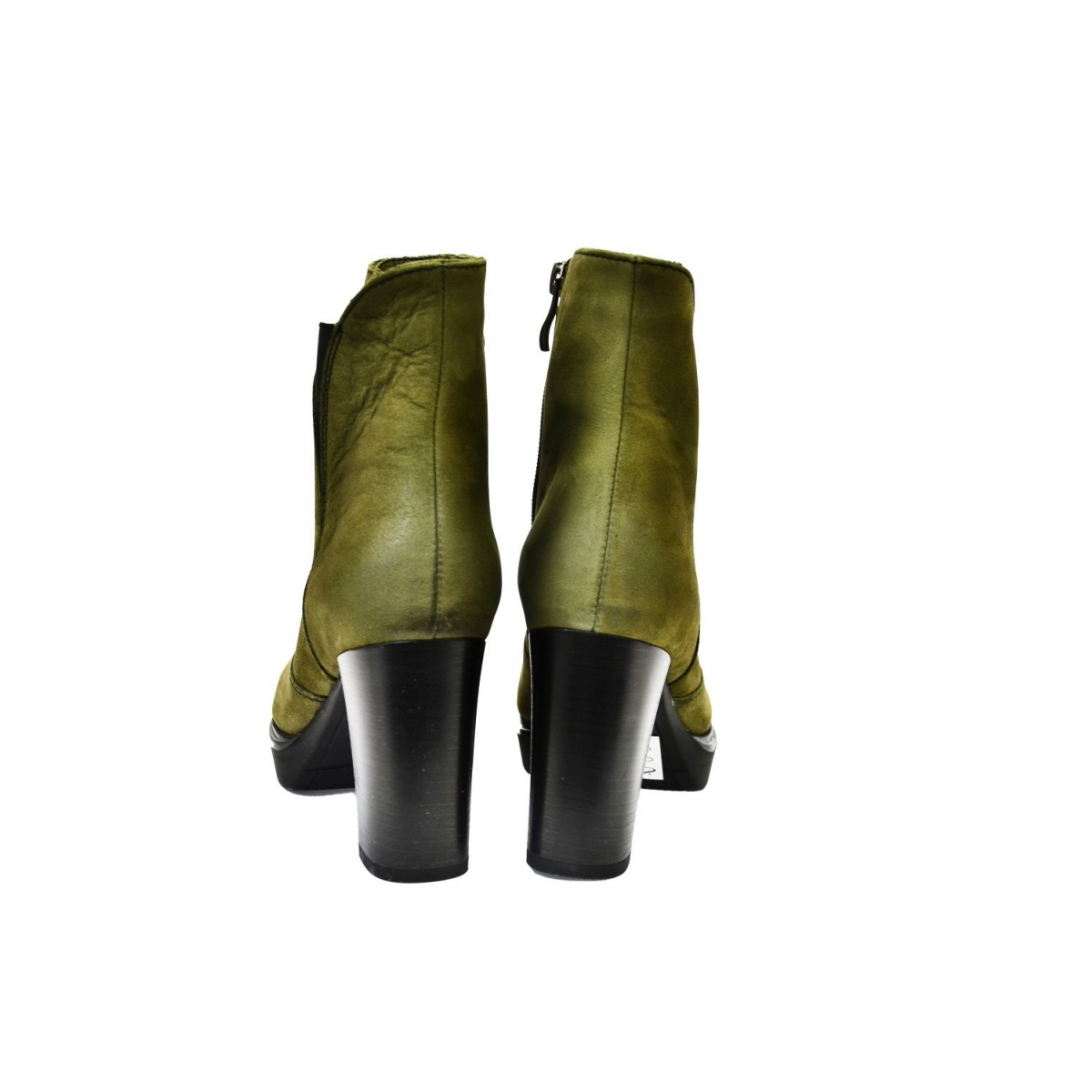 8cd3cecbeb76 Dámske olivovo zelené kožené čižmy SOSNA - 4