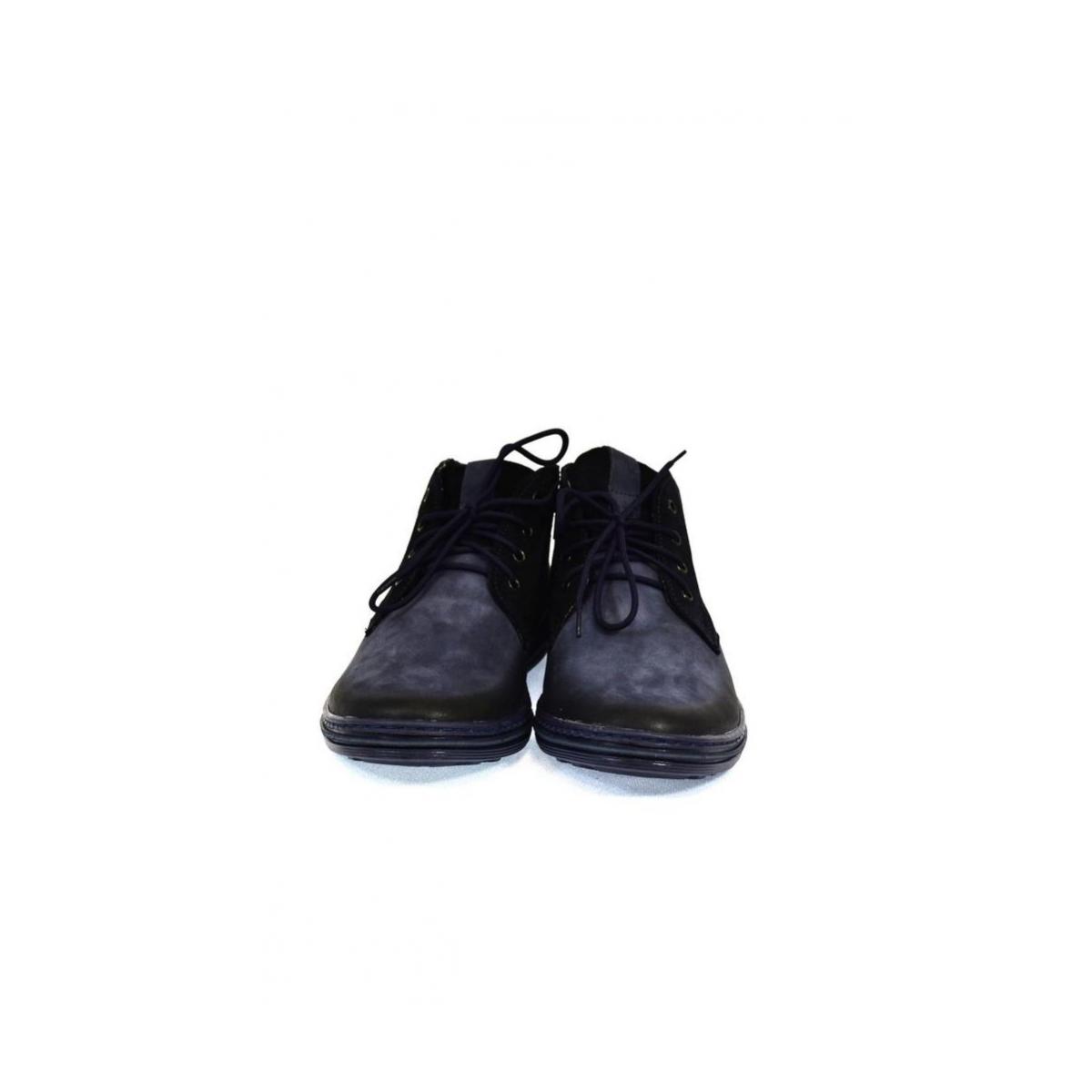 7b59684c59 Pánske kožené modré zimné topánky IZIDOR - 3