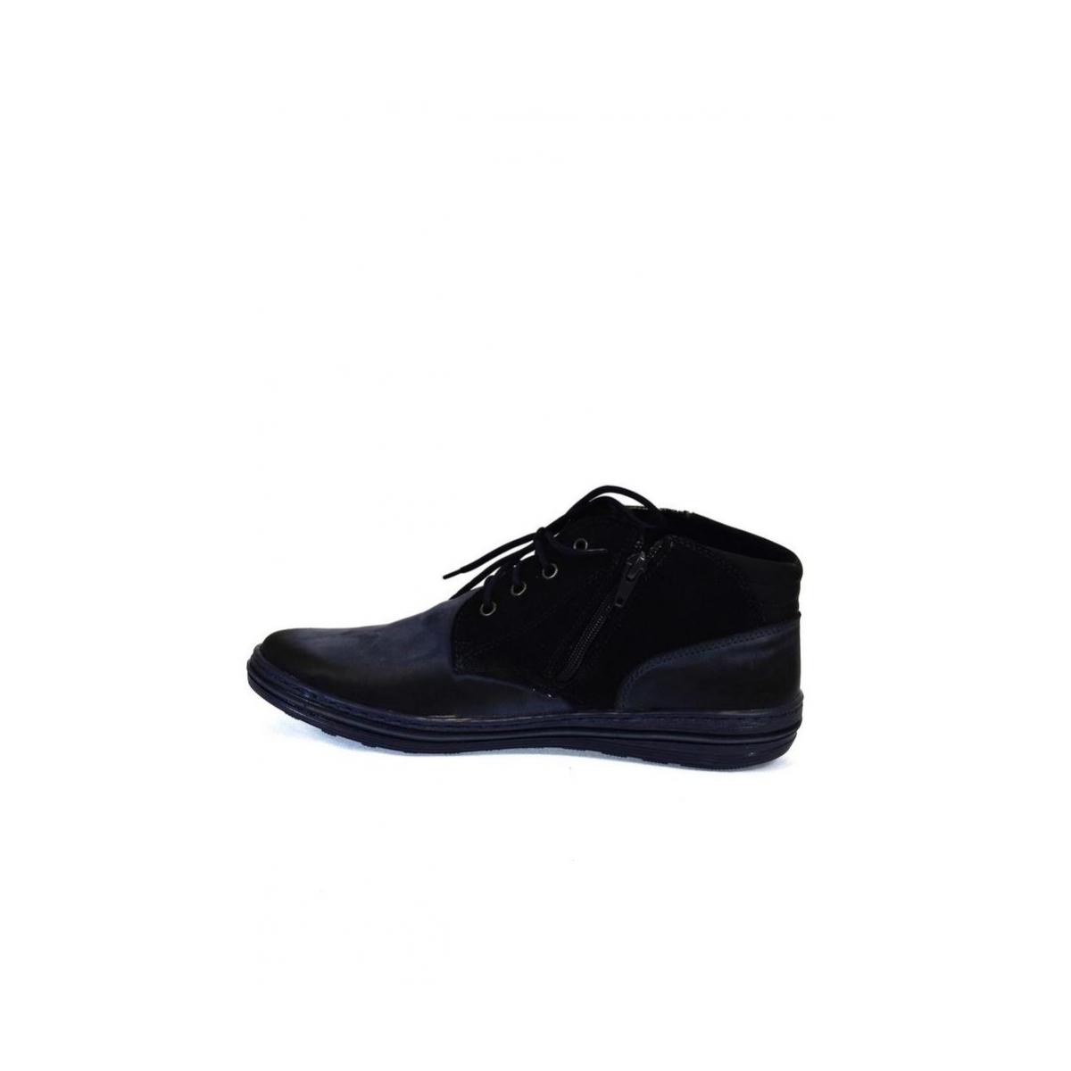 01a20dbb57 Pánske kožené modré zimné topánky IZIDOR - 6