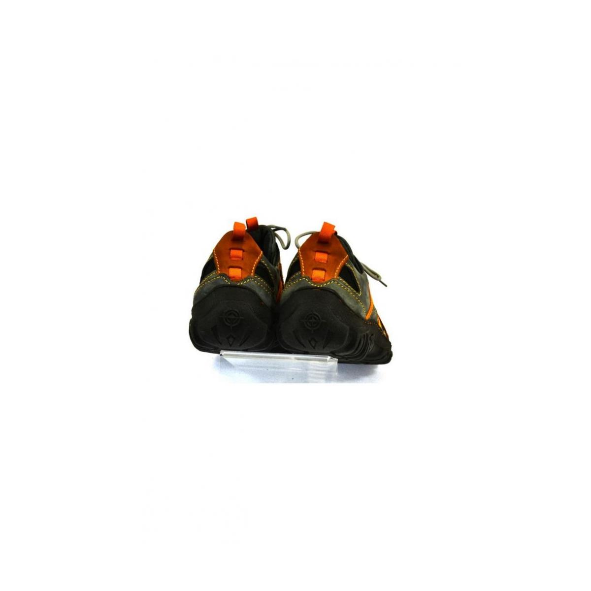 Pánske kožené sivo červené topánky VINCENZO - 5 f6a819cd229