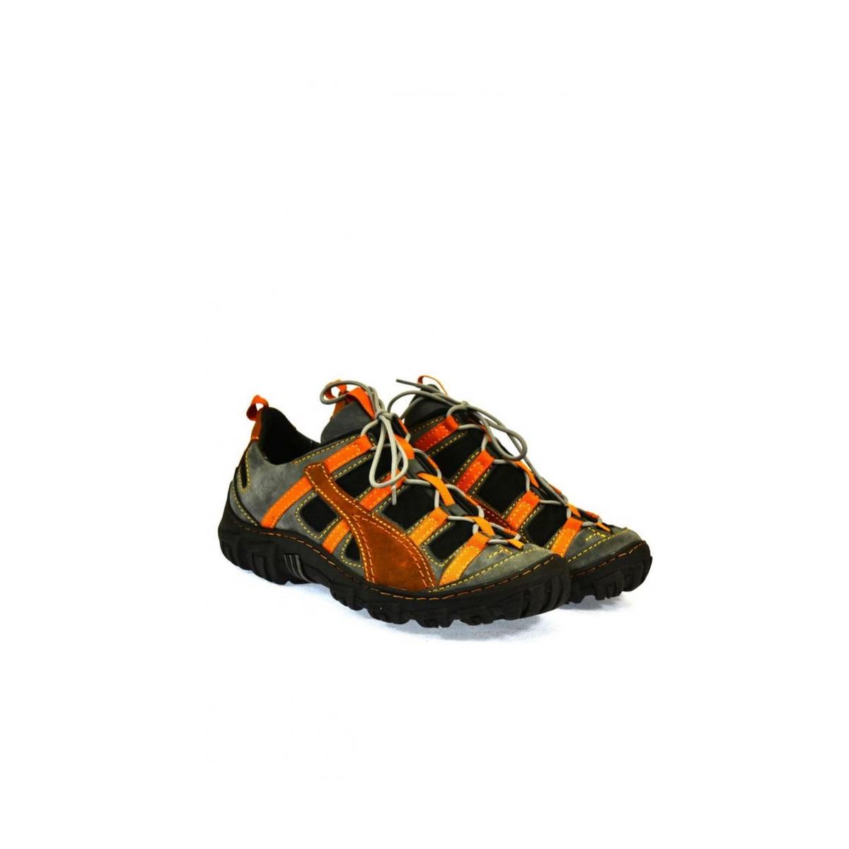 Pánske kožené sivo červené topánky VINCENZO - 2 f2ef4979251