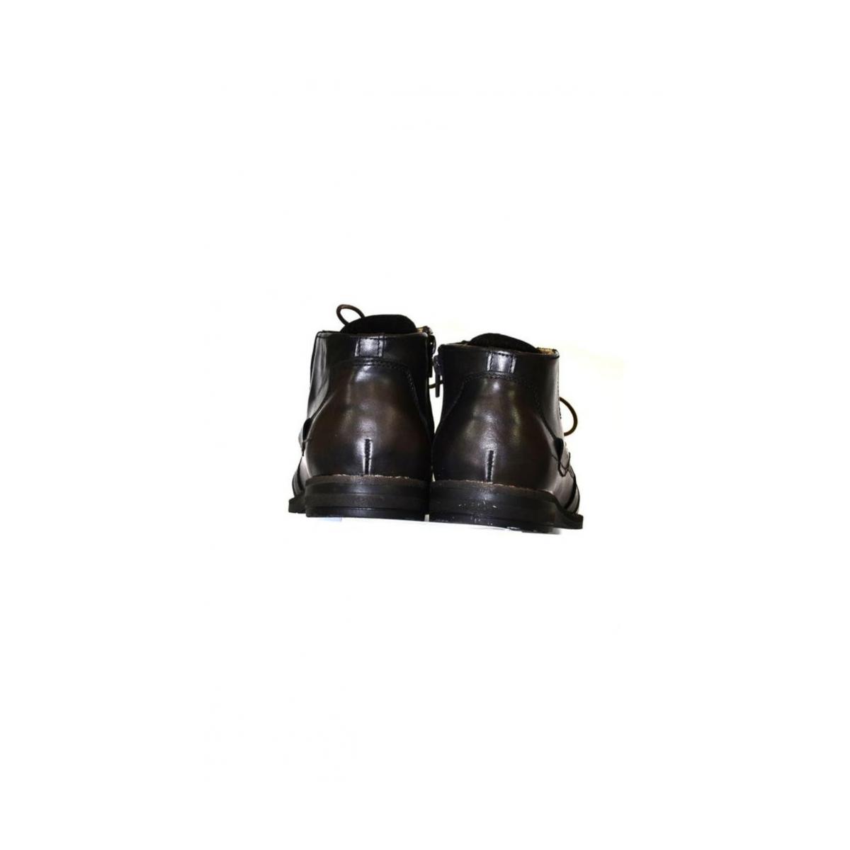 Pánske kožené hnedé zimné topánky SID - 3 77038a7c80a