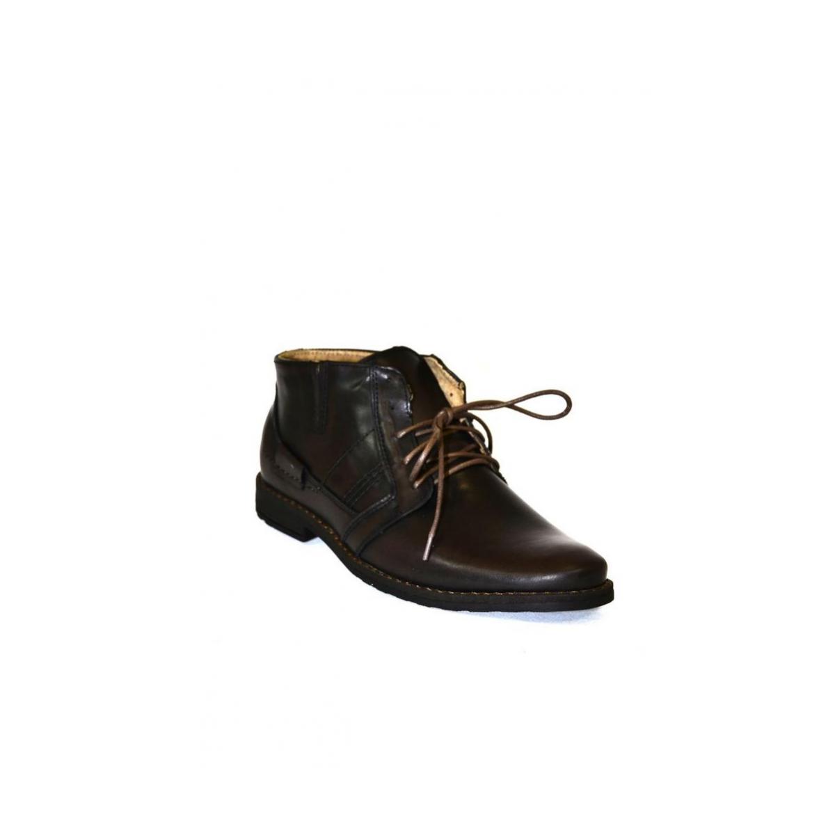Pánske kožené hnedé zimné topánky SID - 4 ae67b67689e