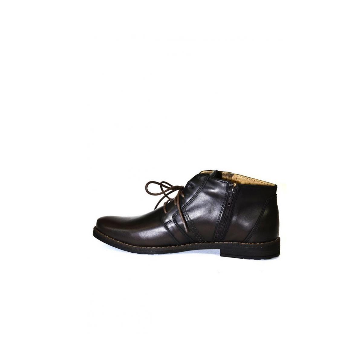 Pánske kožené hnedé zimné topánky SID - 5 587aeafa1aa