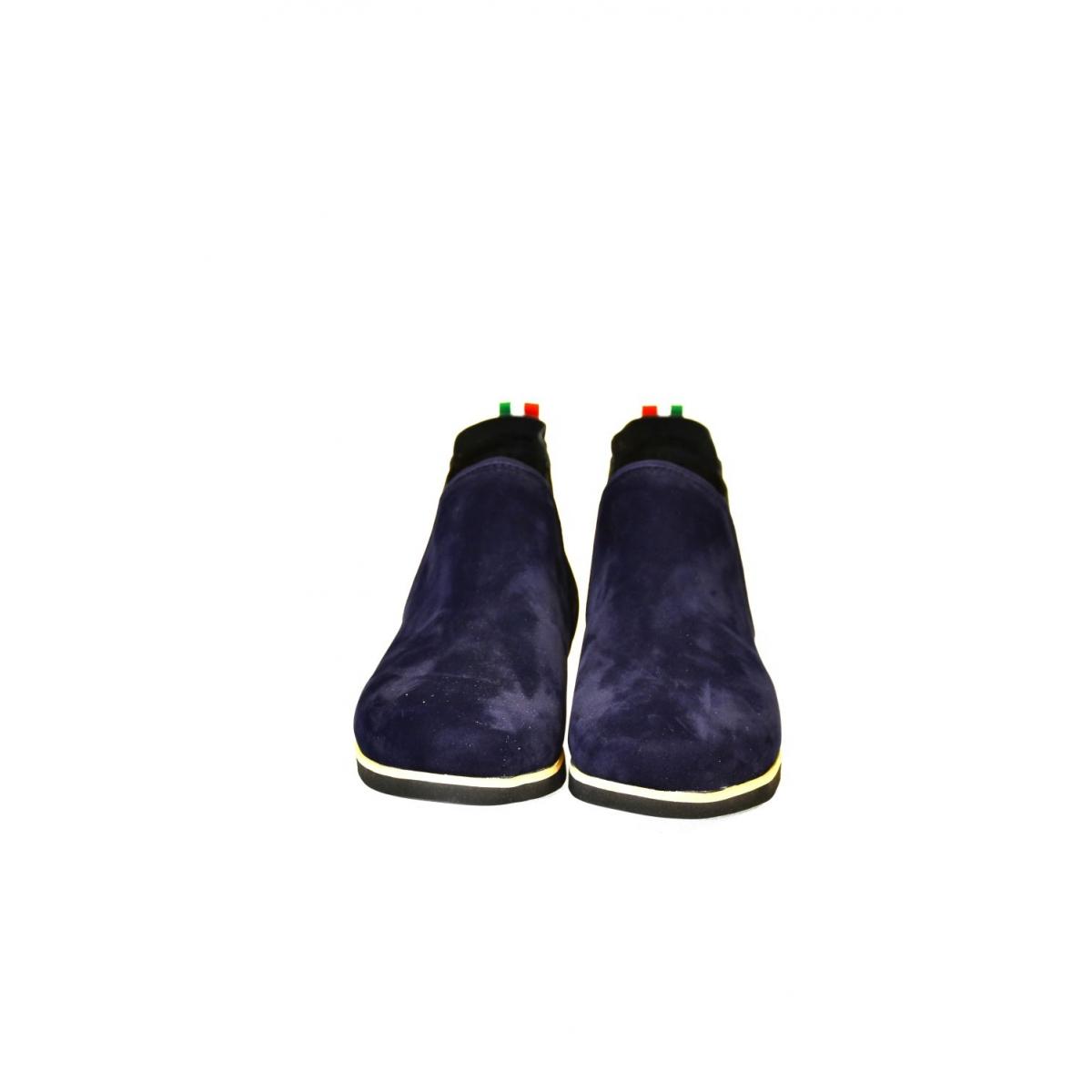 58afff1dfa Dámske tmavo-modré členkové topánky ORIOS - 4