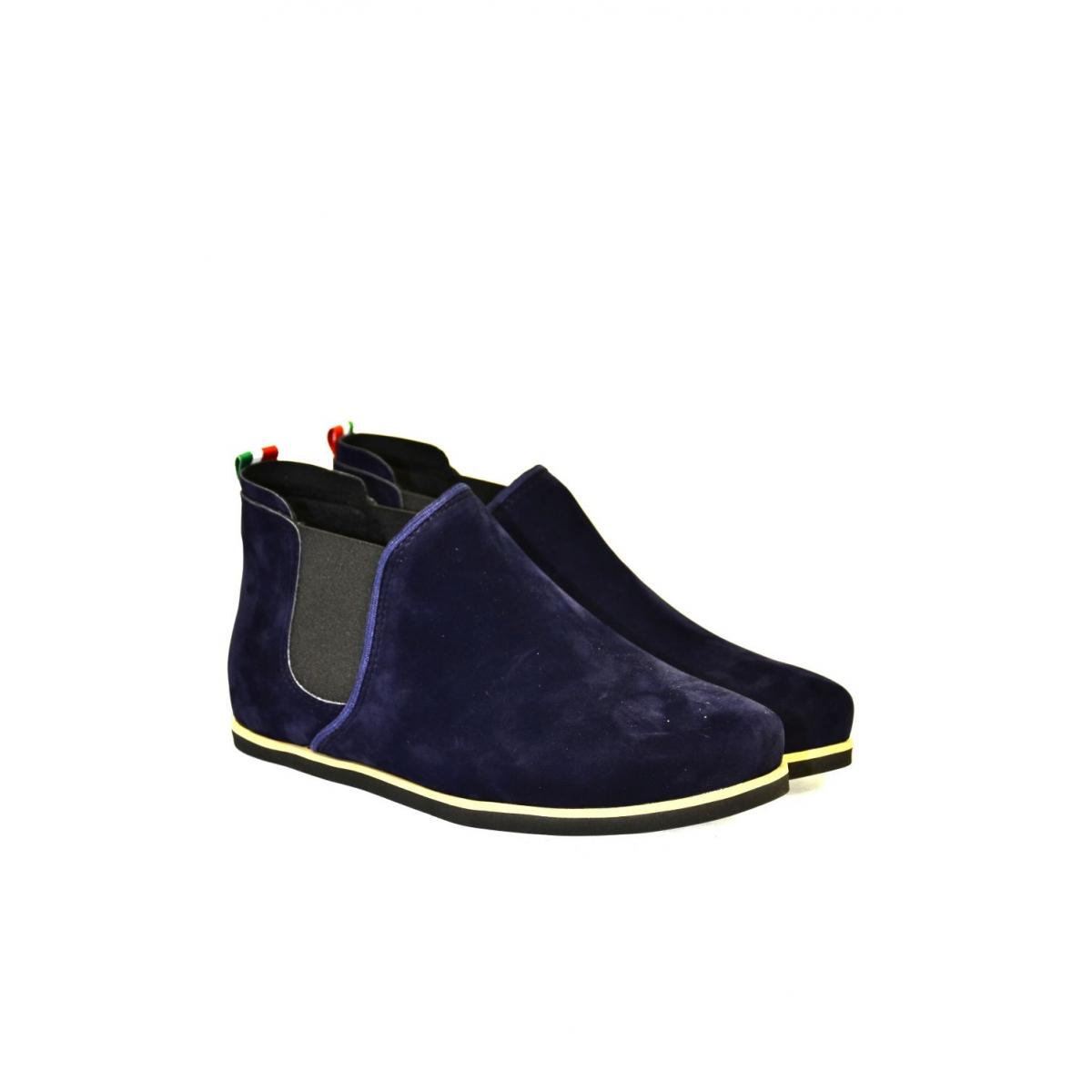 Dámske tmavo-modré členkové topánky ORIOS - 2 306ae00f34b