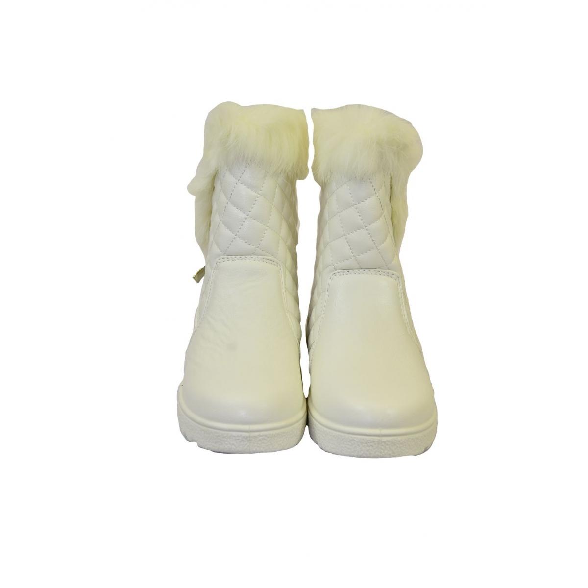 3a76a2d5e4 Dámske biele čižmy LOLLA - 3