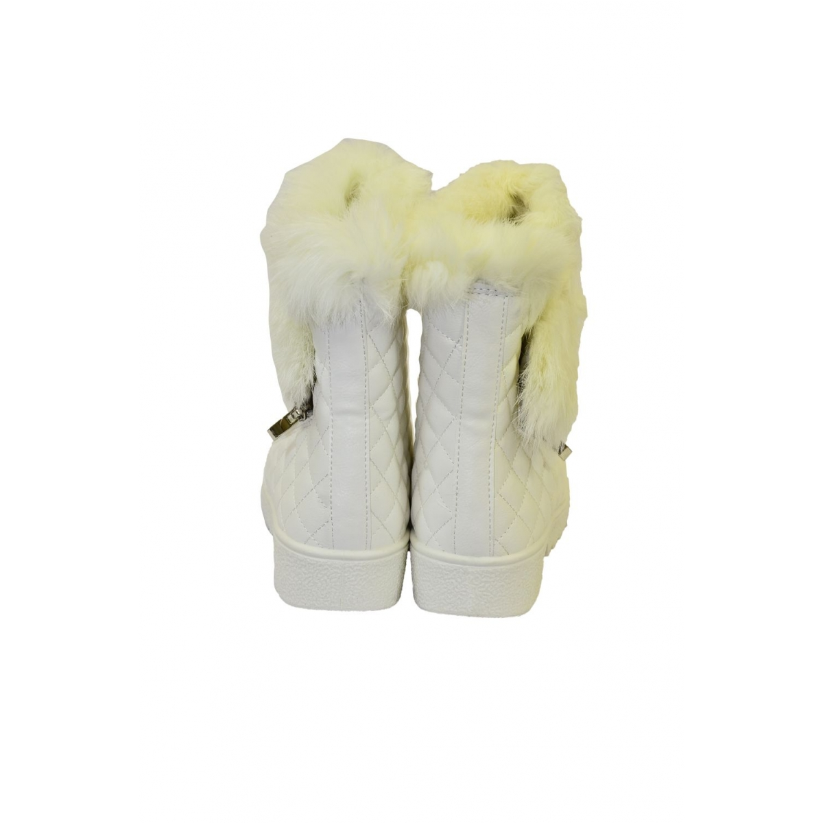 82459e6938 Dámske biele čižmy LOLLA - 4