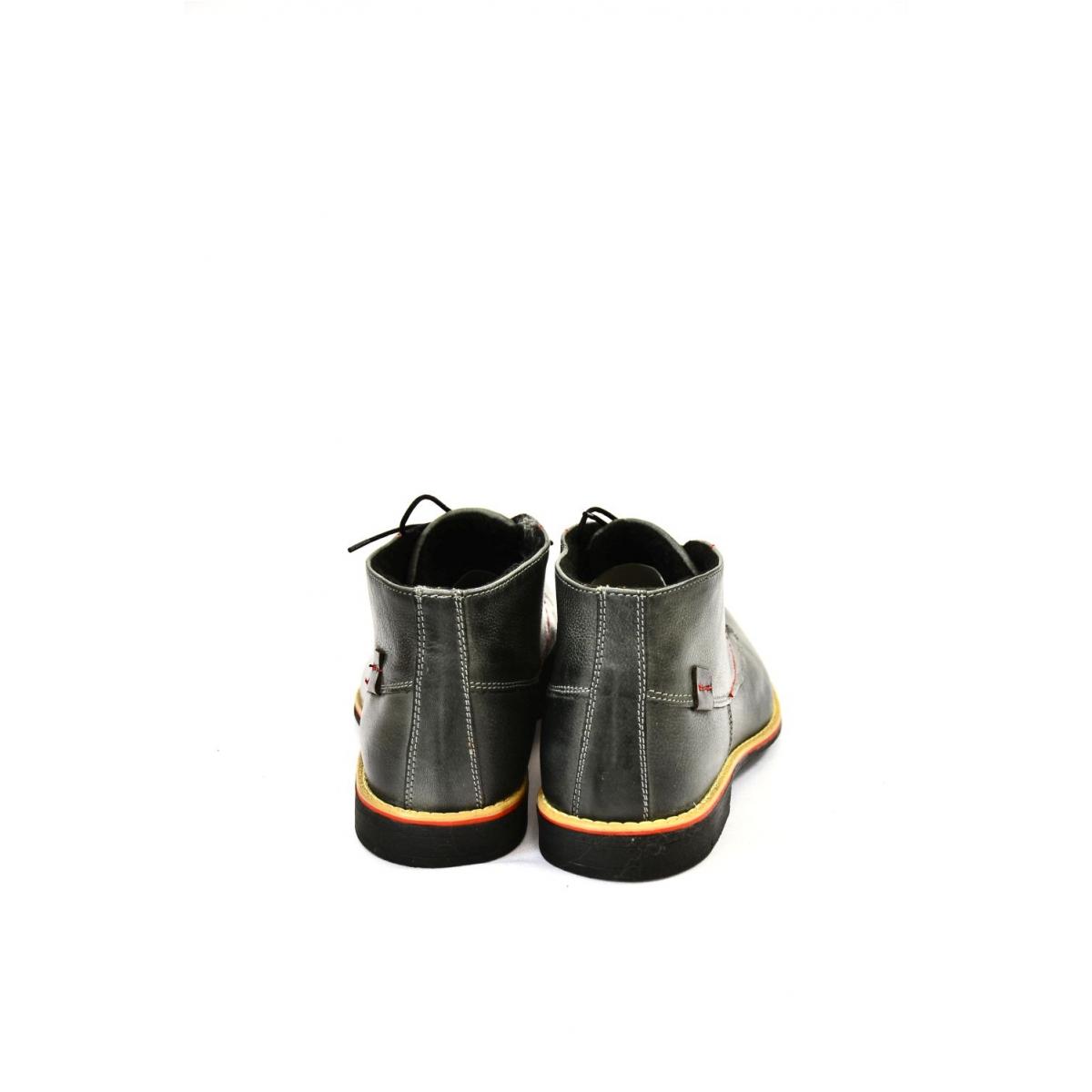 50750cb3cf Pánske sivé kožené zimné topánky RONNY - 3