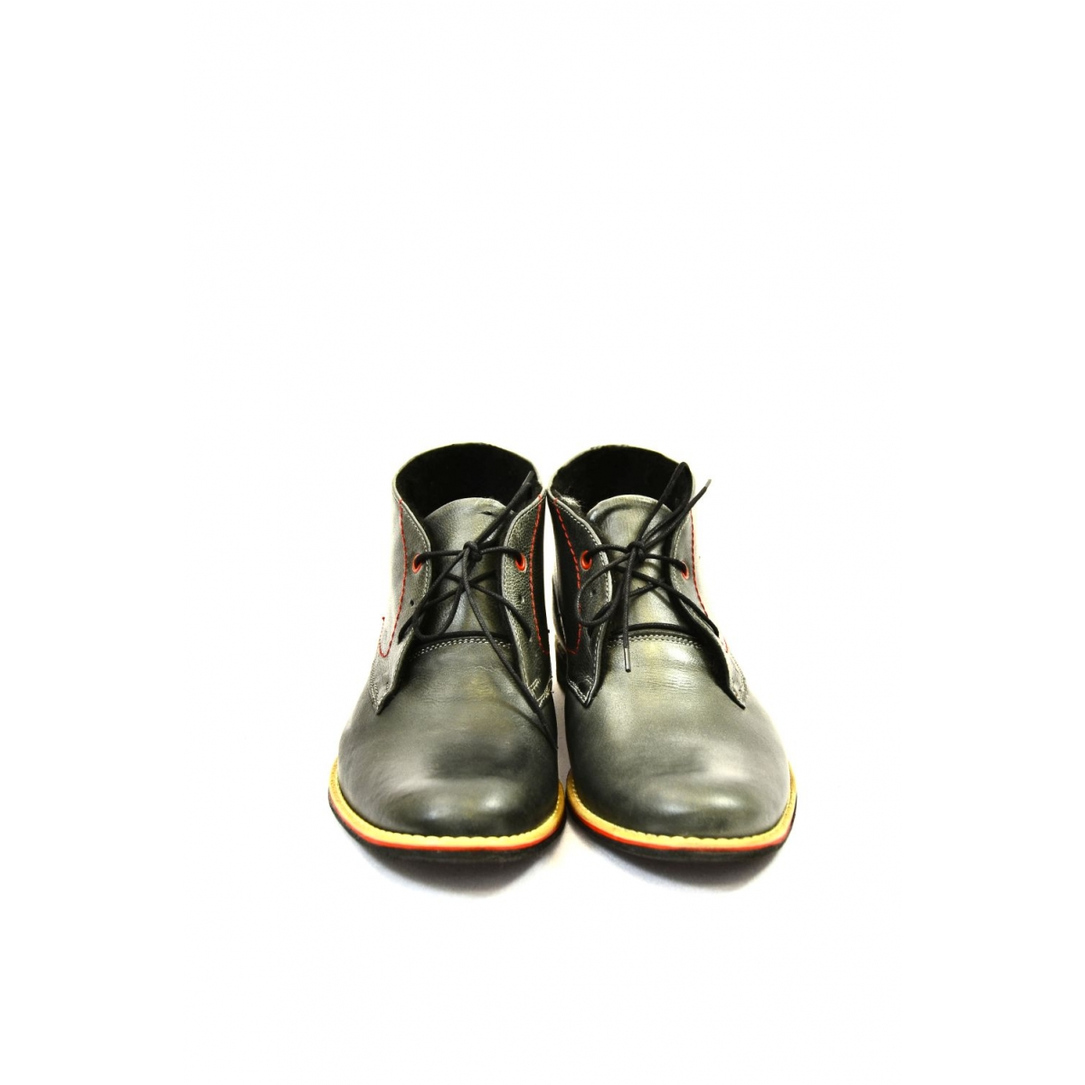 0b13087643ec Pánske sivé kožené zimné topánky RONNY - 4