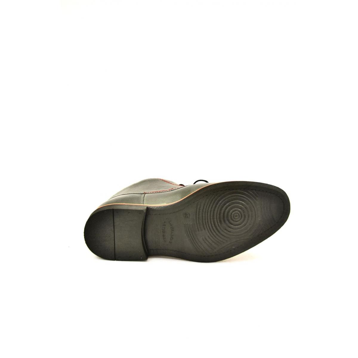 4f5c2c3789 Pánske sivé kožené zimné topánky RONNY - 6