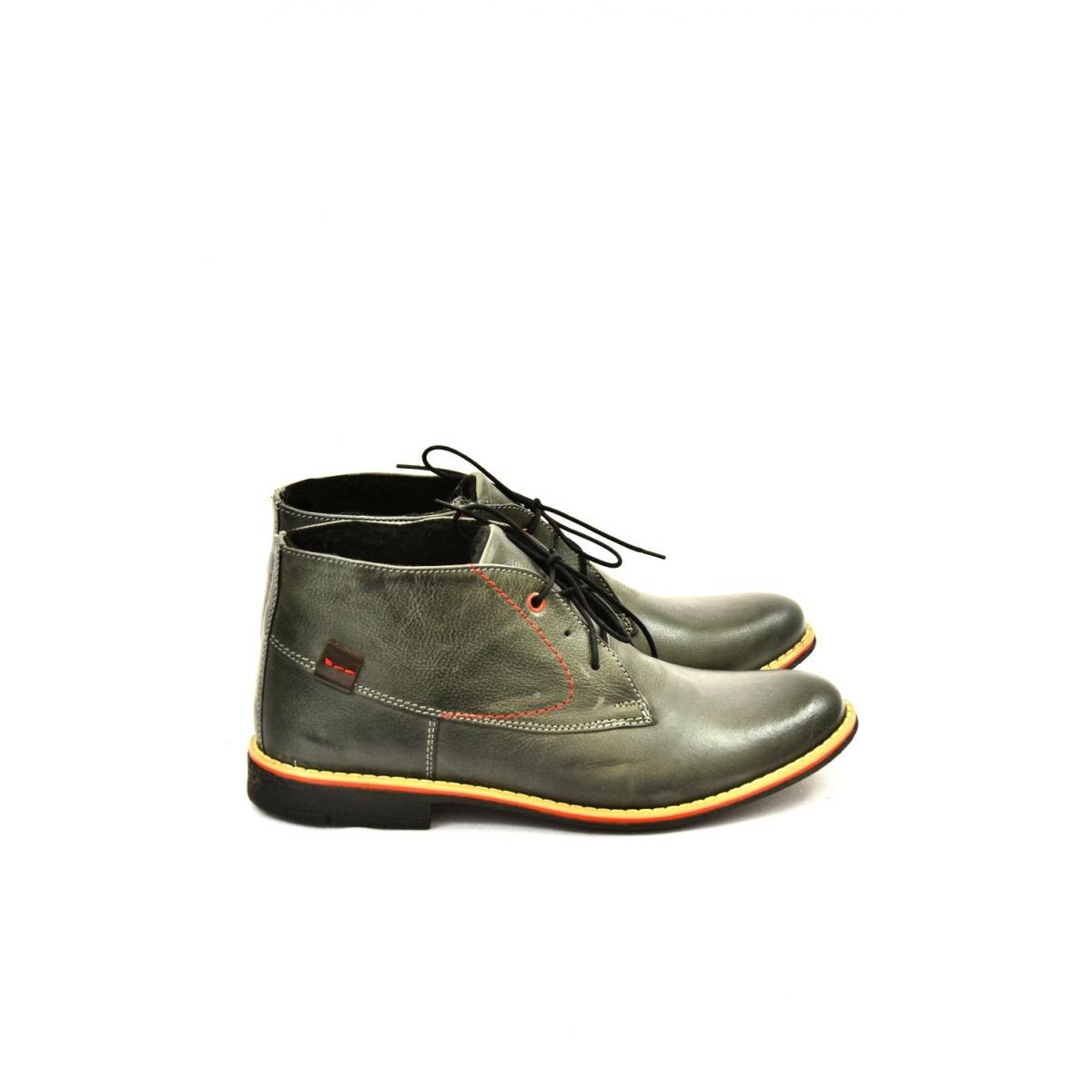 8994c691ec Pánske sivé kožené zimné topánky RONNY - 2