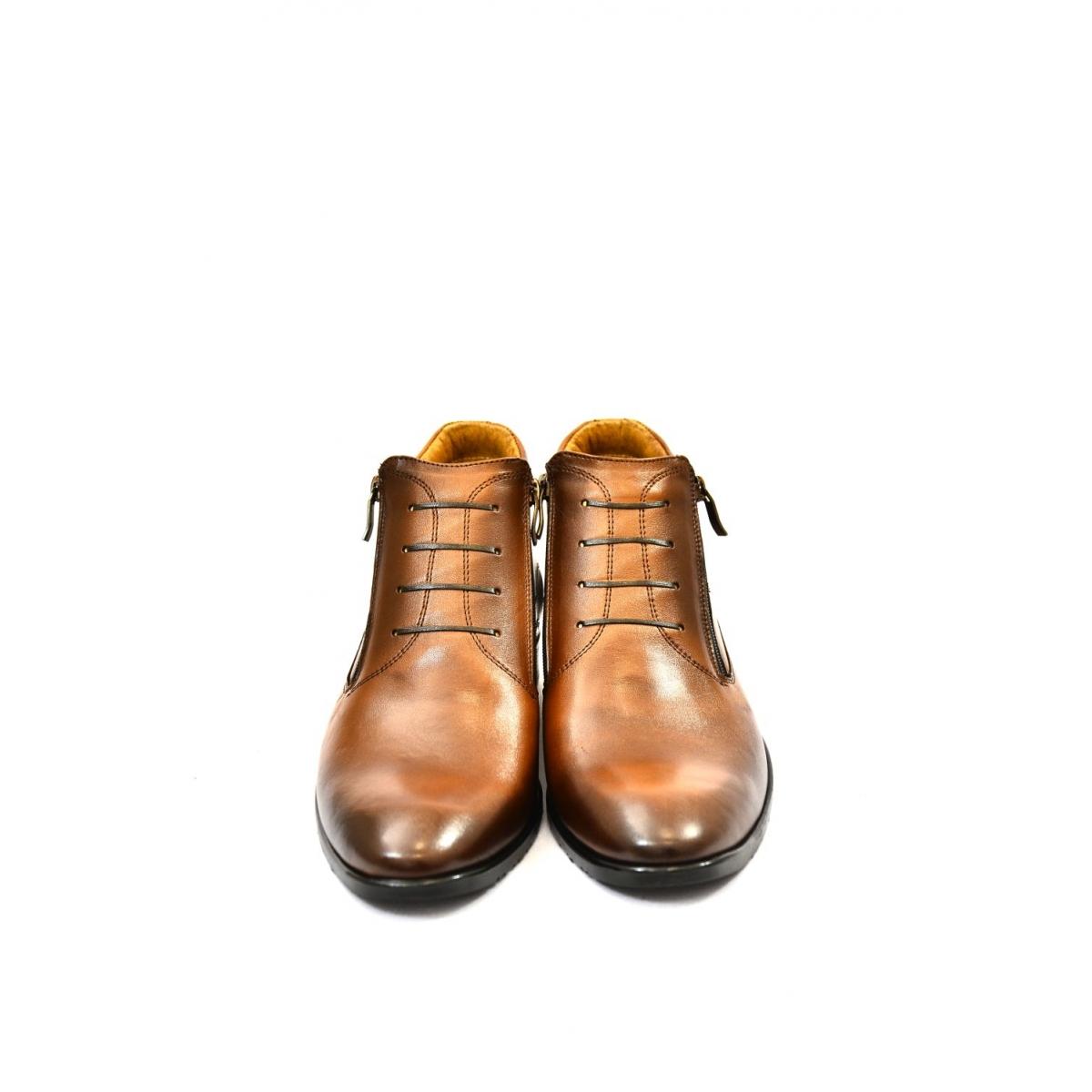 7f57a50d63c9 Pánske hnedé kožené zimné topánky ARTHUR - 3