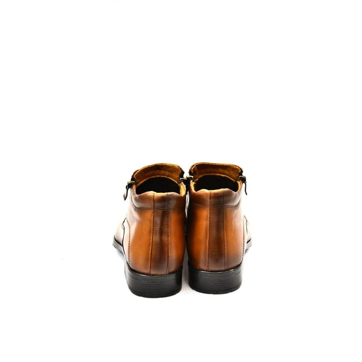 e905cc8ad Pánske hnedé kožené zimné topánky ARTHUR | Johnc.sk