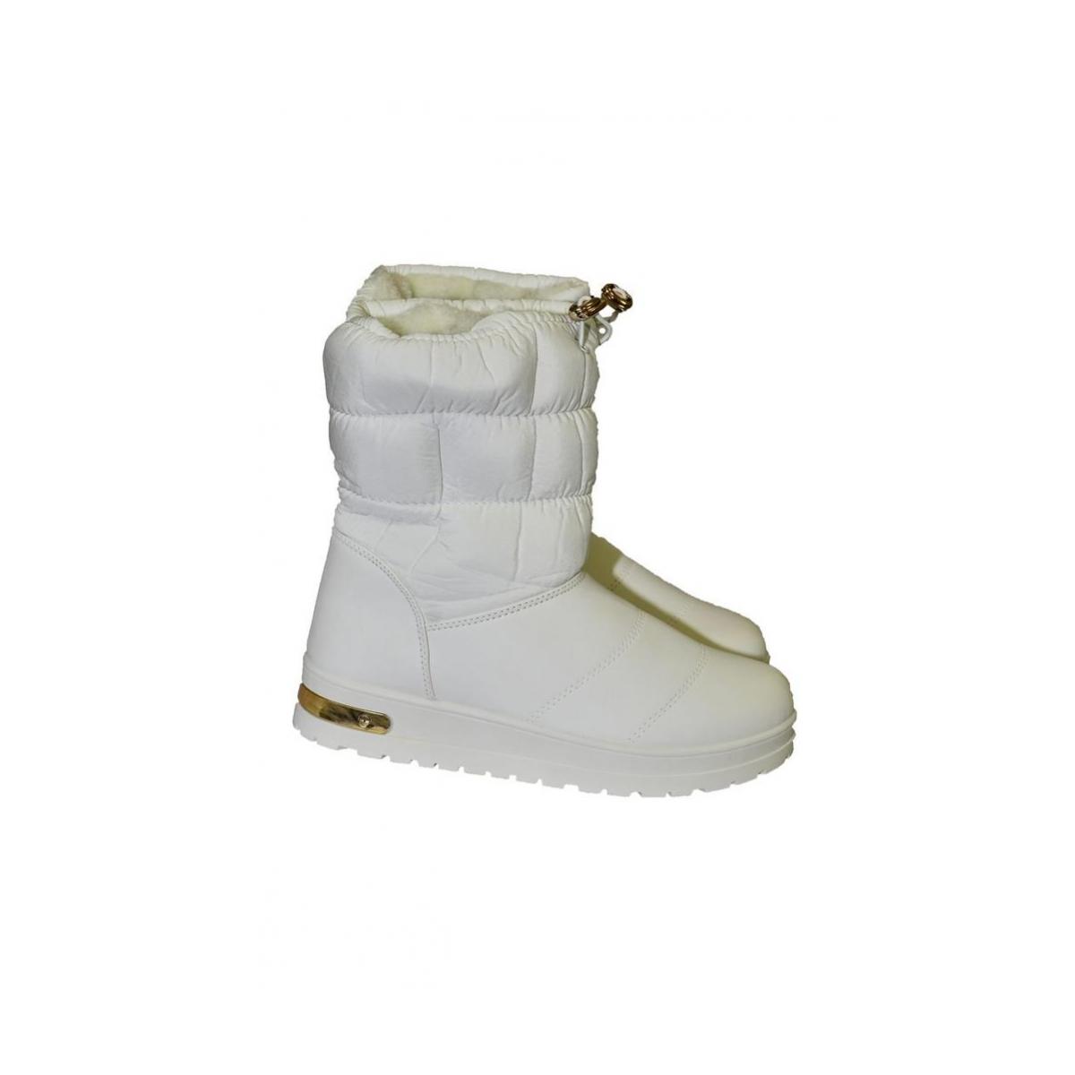 a4184b3210 Dámske biele čižmy SARA - 2