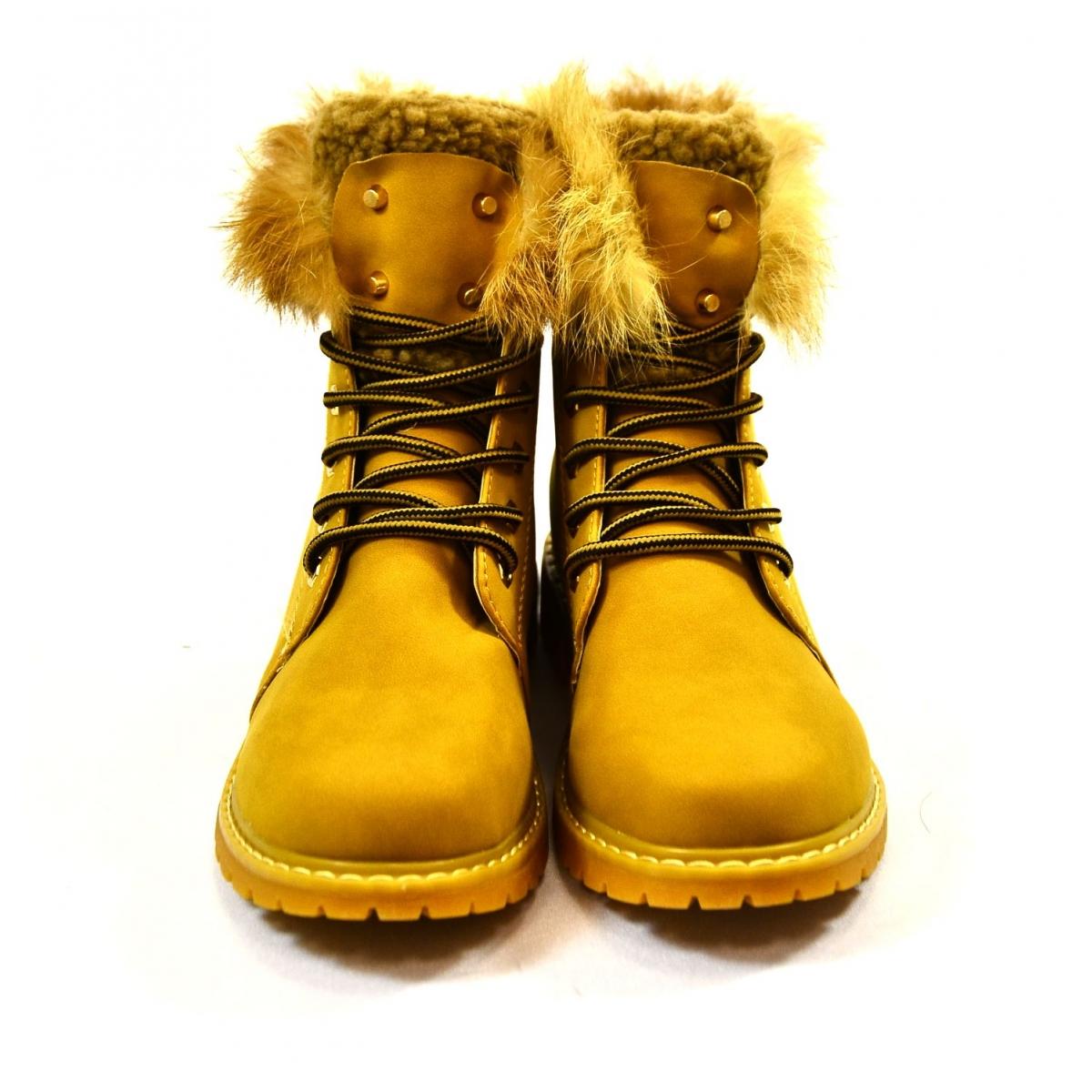 b4a985a7f Dámske žlté zimné topánky KLOE | Johnc.sk