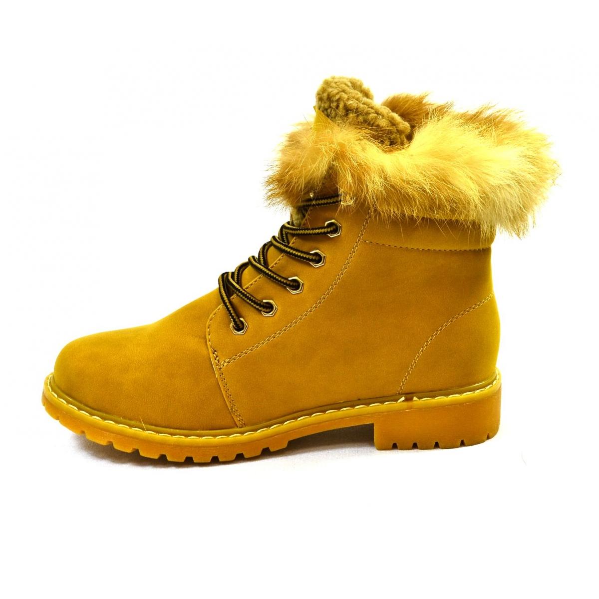 fc107ea7c Dámske žlté zimné topánky KLOE | Johnc.sk