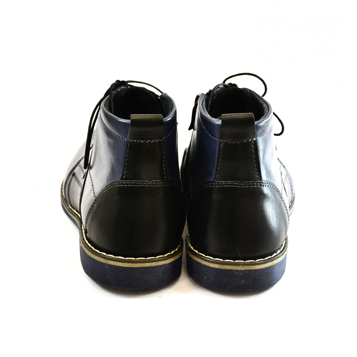 ee20c1bdd4 Pánske tmavo-modré kožené zimné topánky TRISTAN - 4
