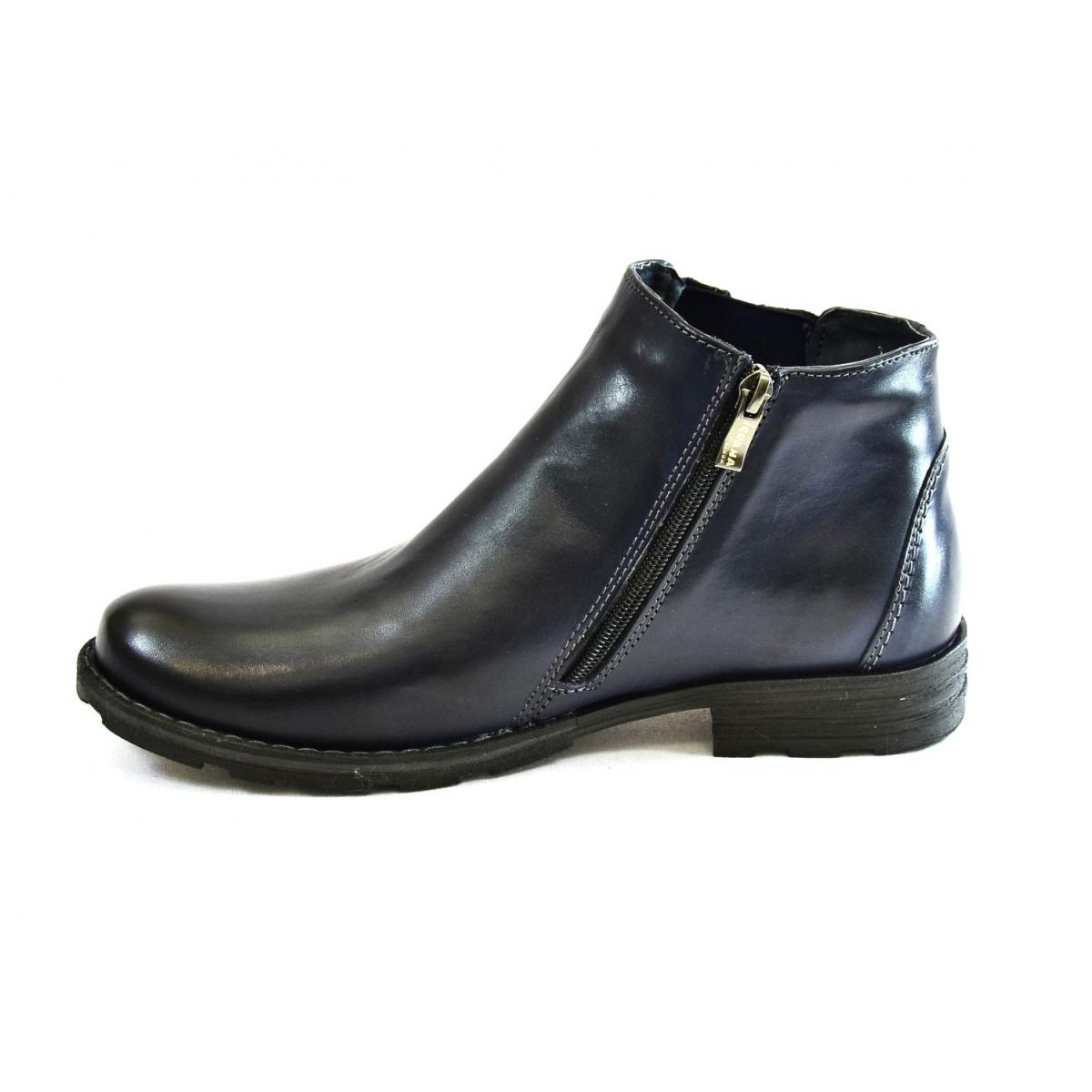 6f855aeaa235b Pánske tmavo-modré zimné topánky HARRY   Johnc.sk