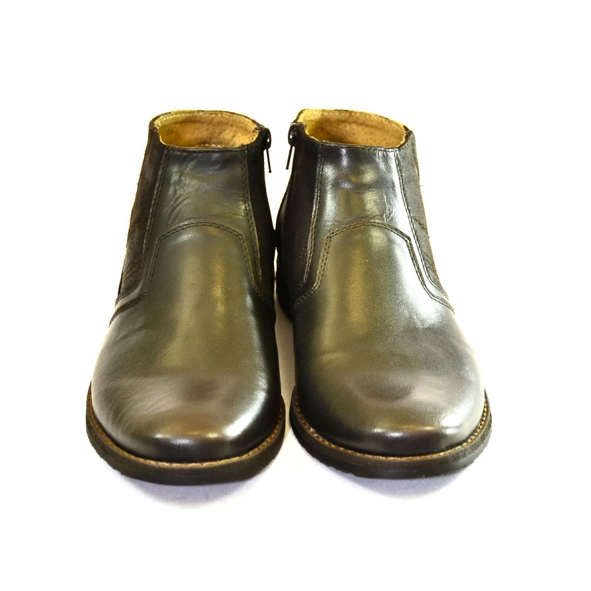 Pánske tmavo-hnedé kožené zimné topánky CONRAD - 3 dcc5d1ff248