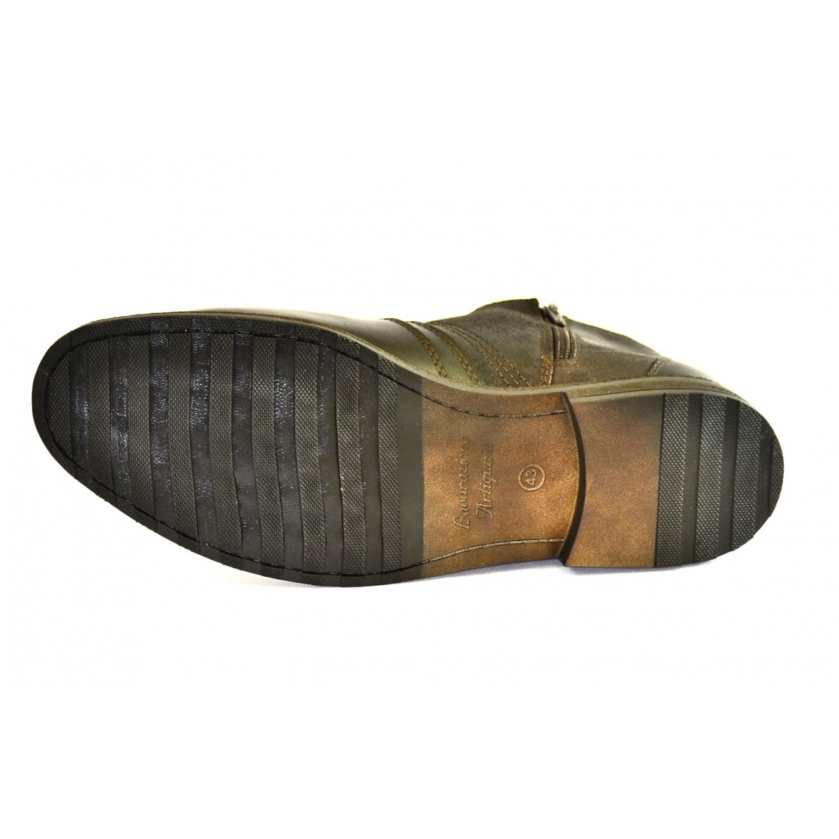 91cc53ecf9 Pánske tmavo-hnedé kožené zimné topánky CONRAD - 6
