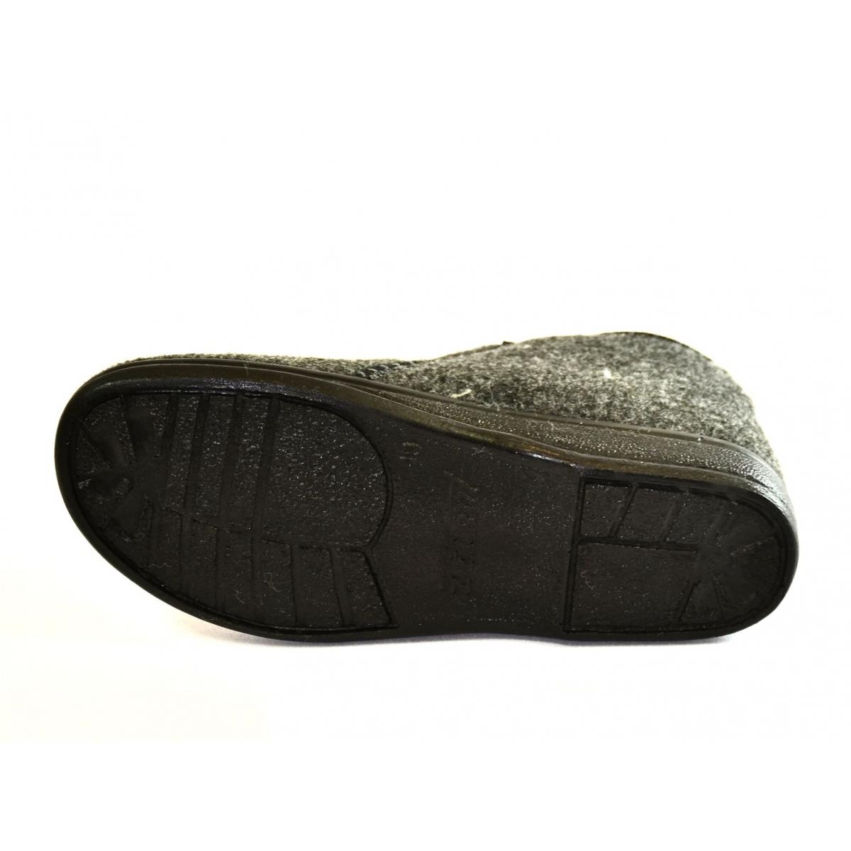 eb7c390c74d3 Pánske sivé zateplené papuče MINRO - 4