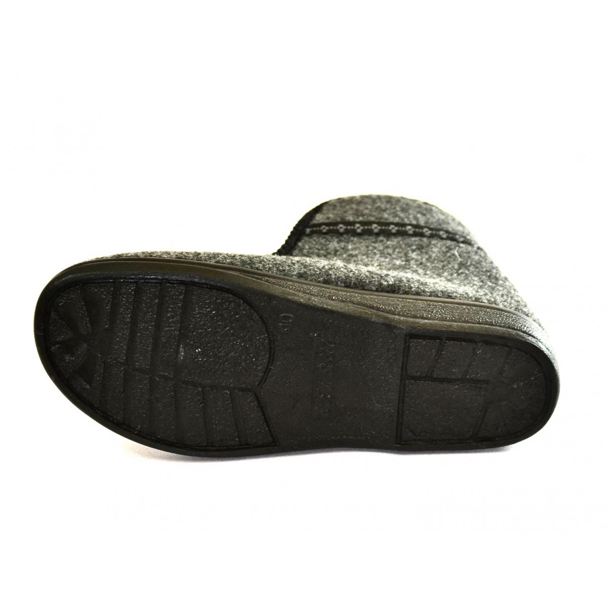 9991682ef3ee Pánske sivé papuče TEO - 4
