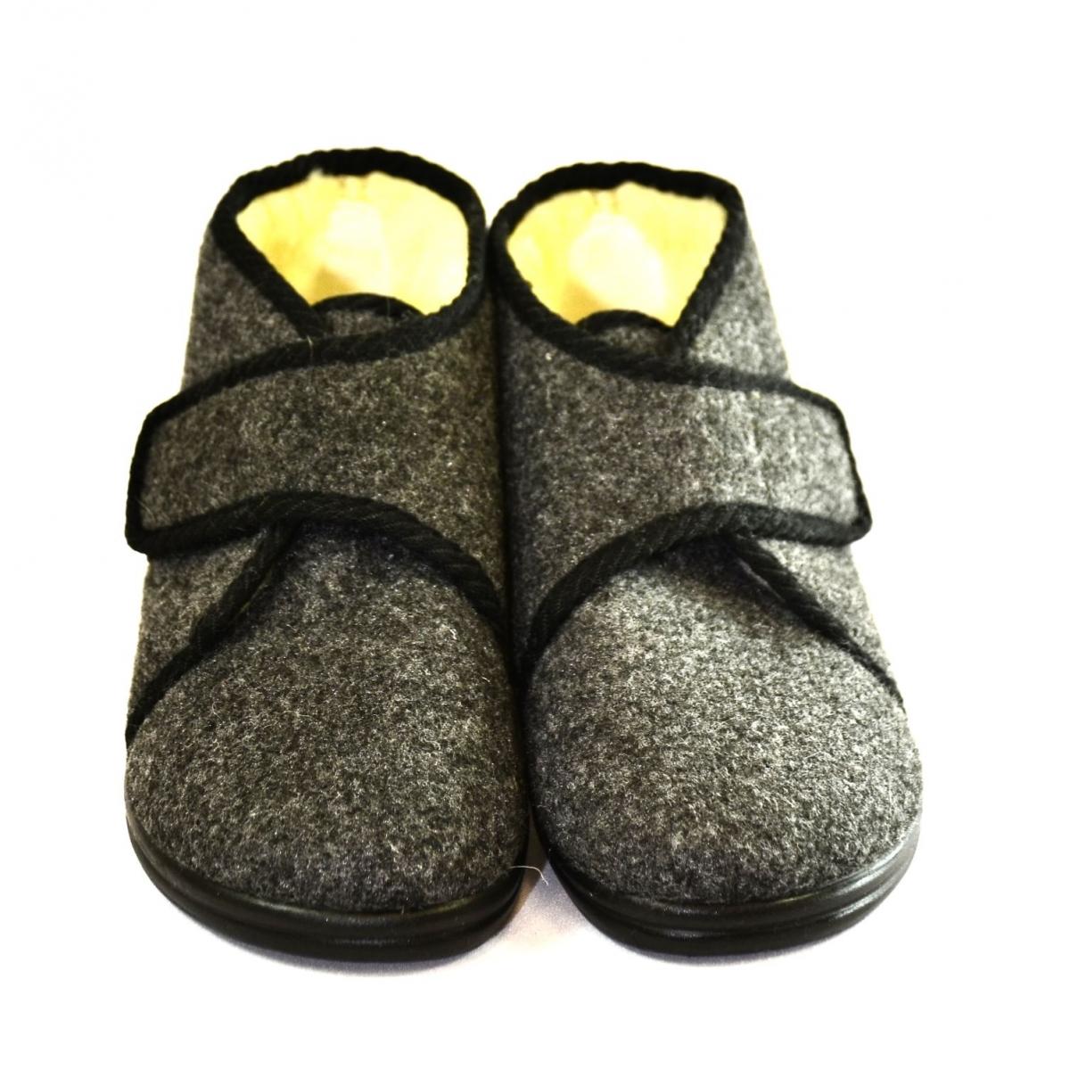 f21ba55d49ac Pánske sivé papuče JERRY - 2
