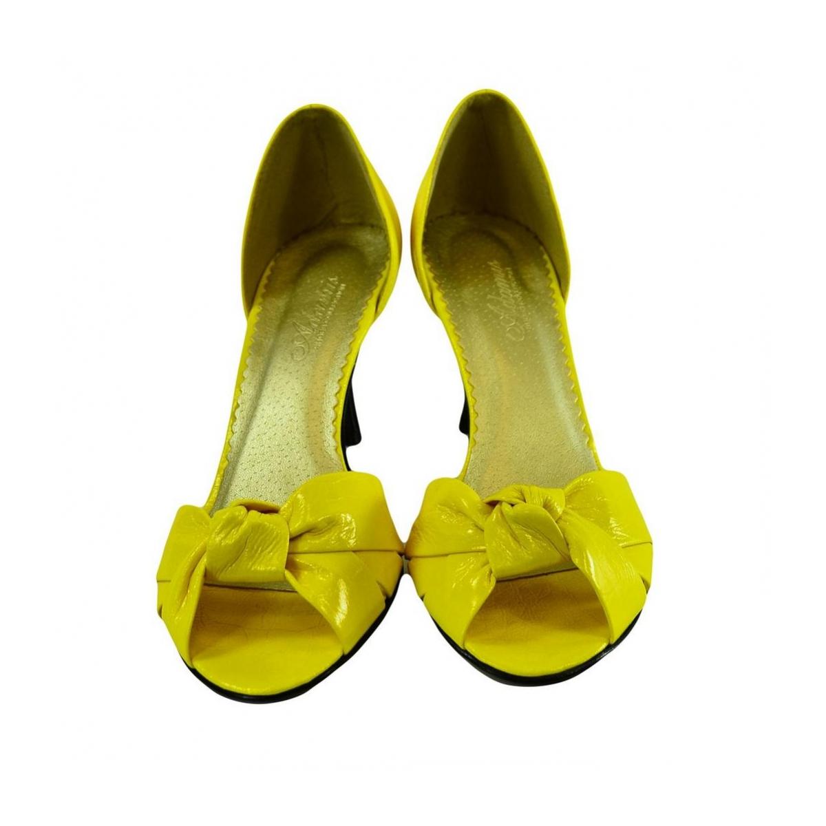 Dámske žlté kožené lodičky Conses - 4 698dd1503b