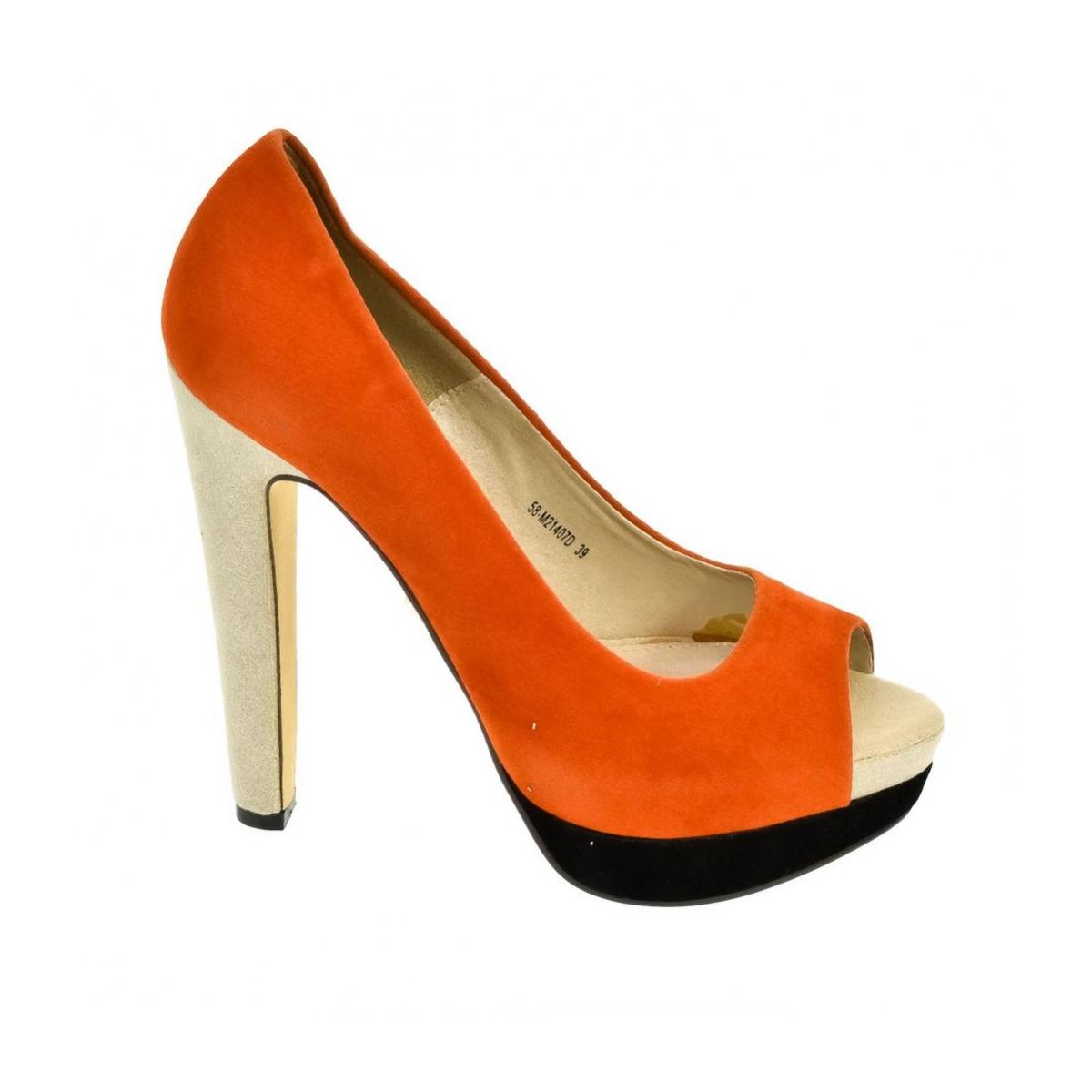1aa6ef814dd0 Dámske oranžové lodičky ENGA - 2