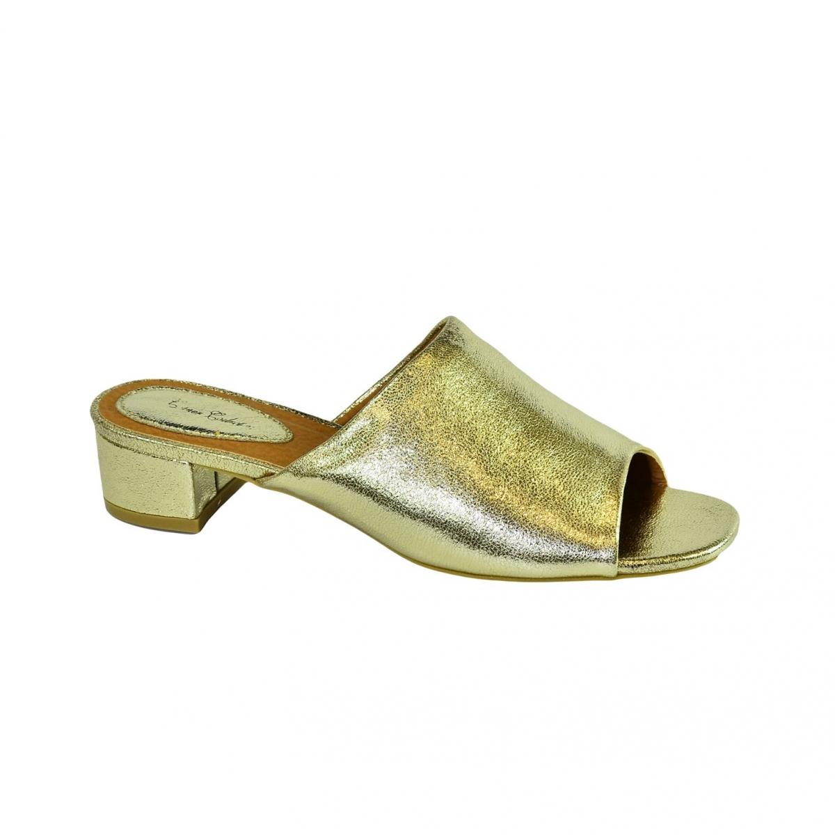 830b7109aad1 Dámske elegantné zlaté šľapky LUNA - 5
