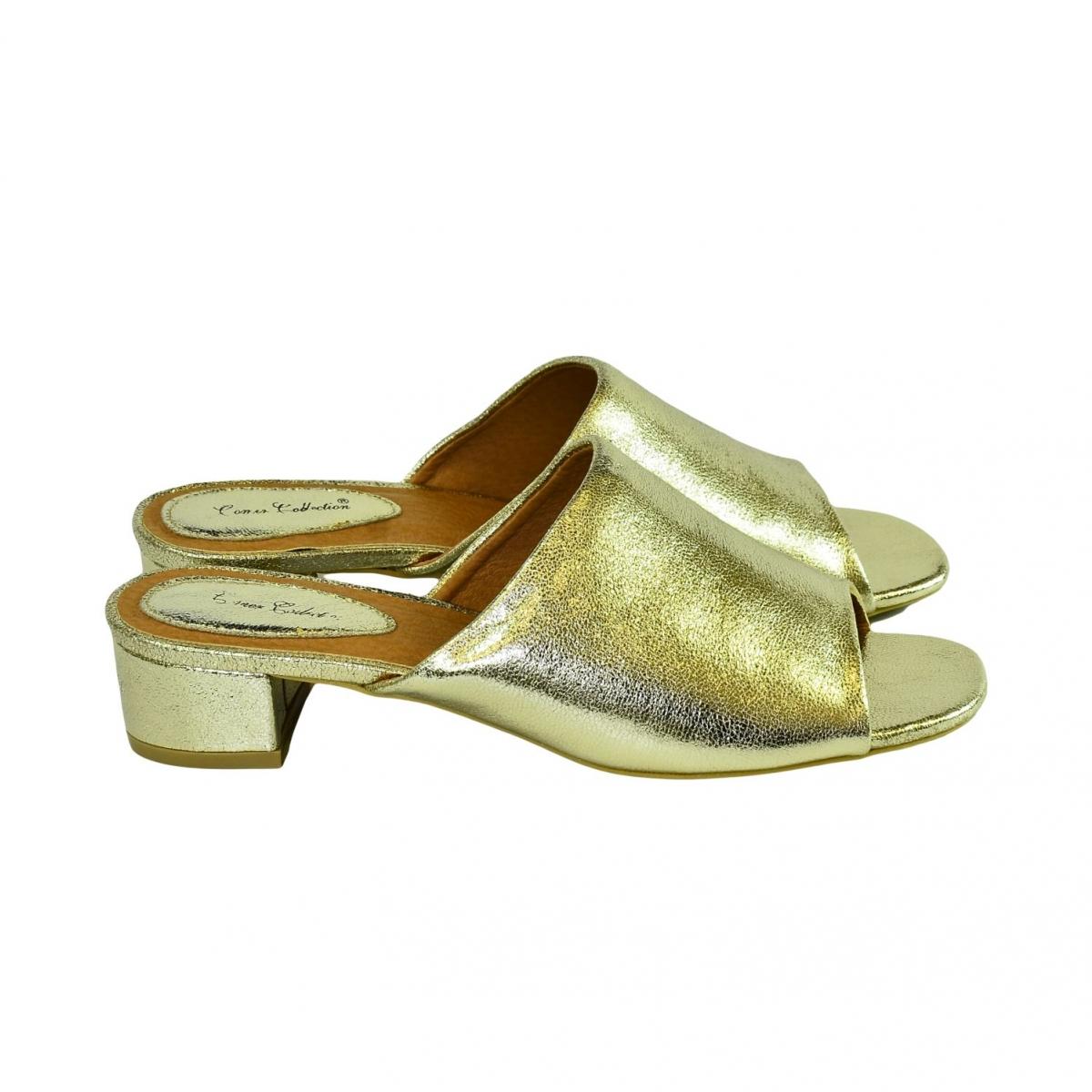 f233c85db8 Dámske elegantné zlaté šľapky LUNA - 2