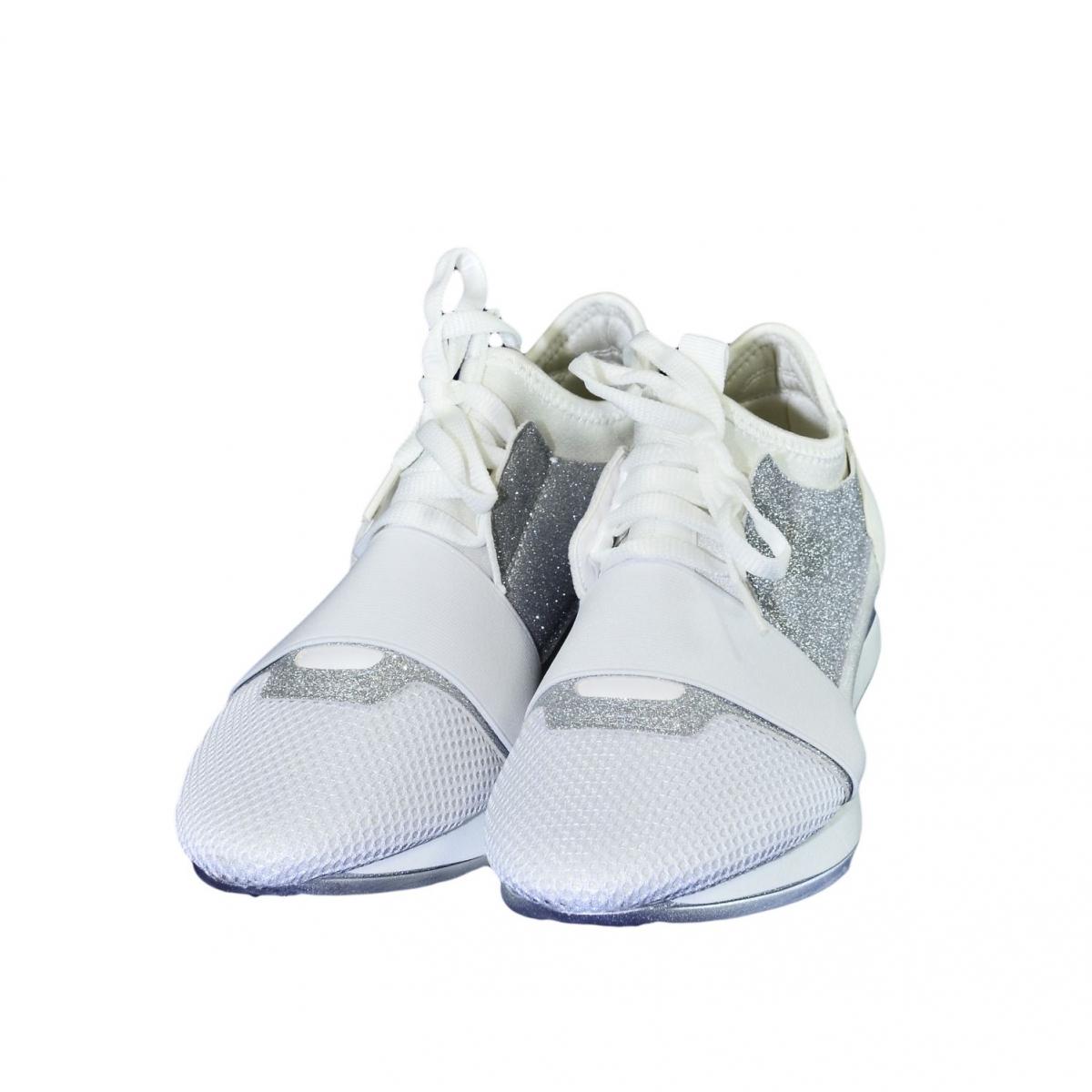 Dámske bielo-strieborné botasky BRIEN - 3 ece0d9fba9c